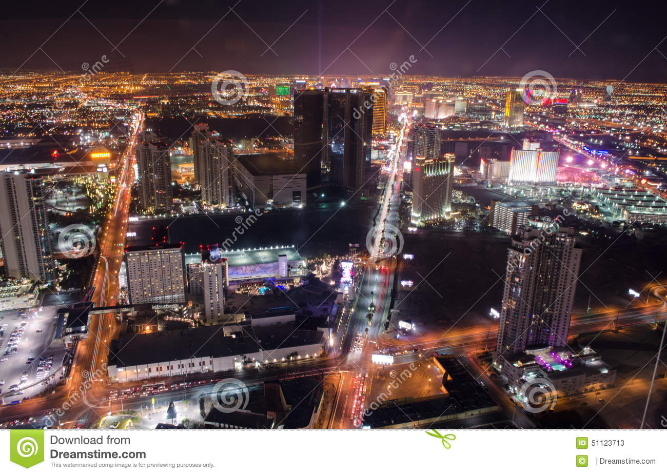 Download Las Vegas Strip Aerial Night Light Show Editorial Stock Photo    Image Of Quiet,