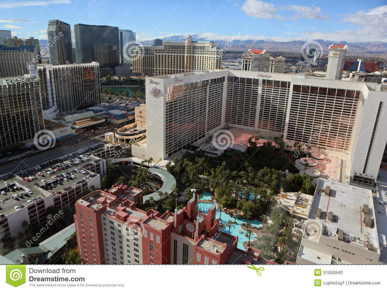 Does Aerial view las vegas strip