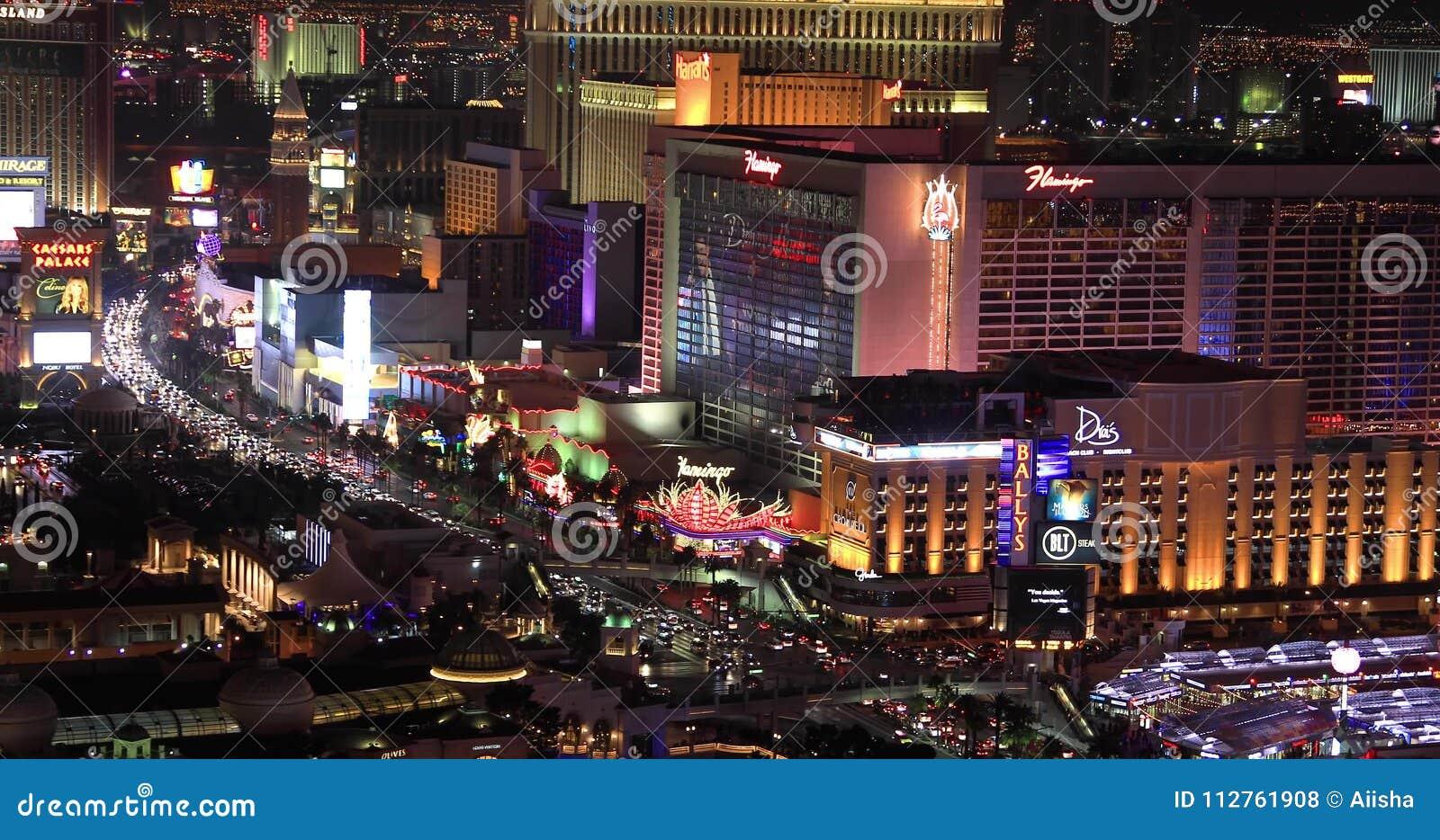 Las Vegas Strip With Paris Hotel View On Background Stock Footage