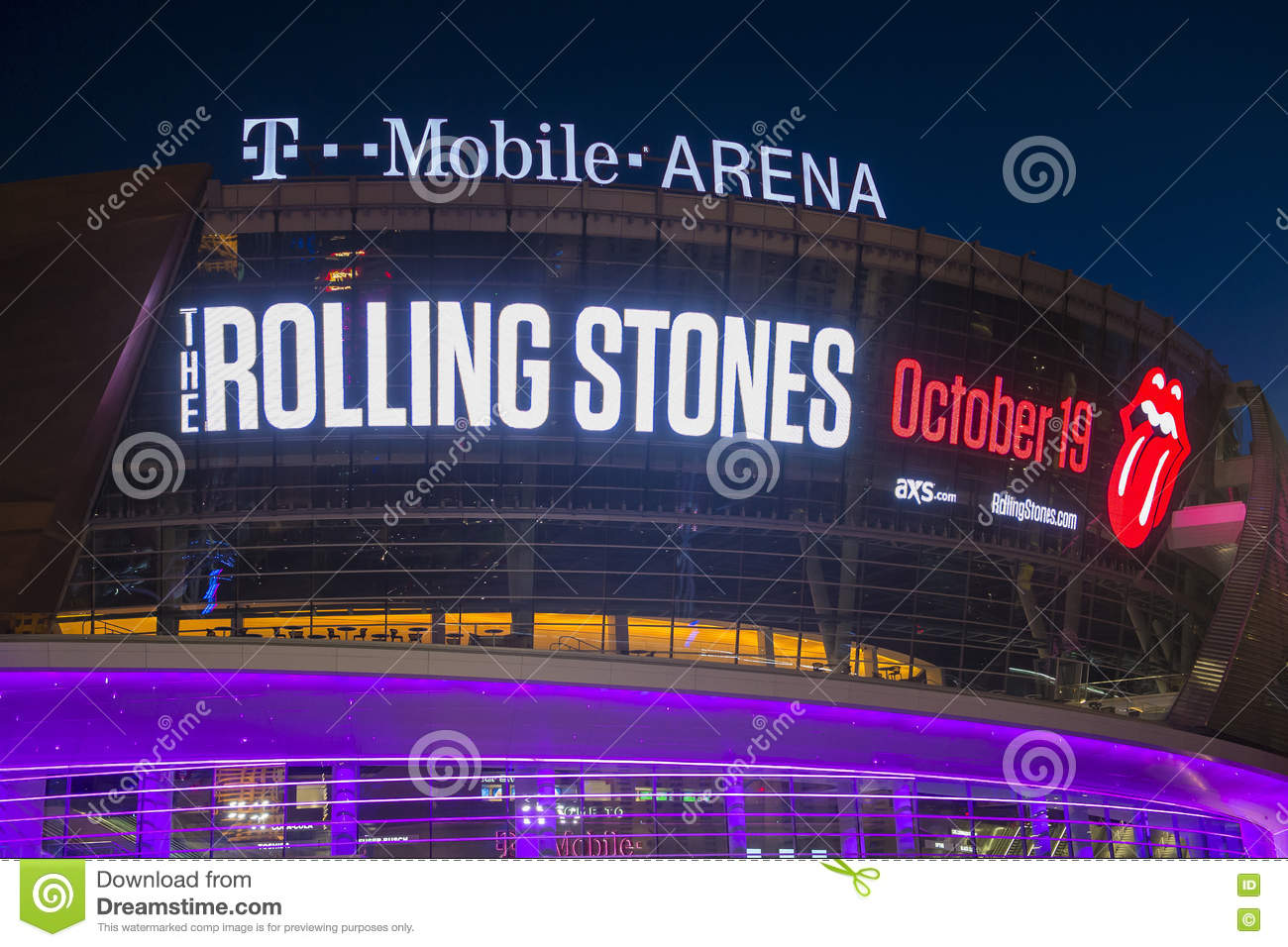 Las Vegas T-Mobile arena editorial stock image  Image of concert