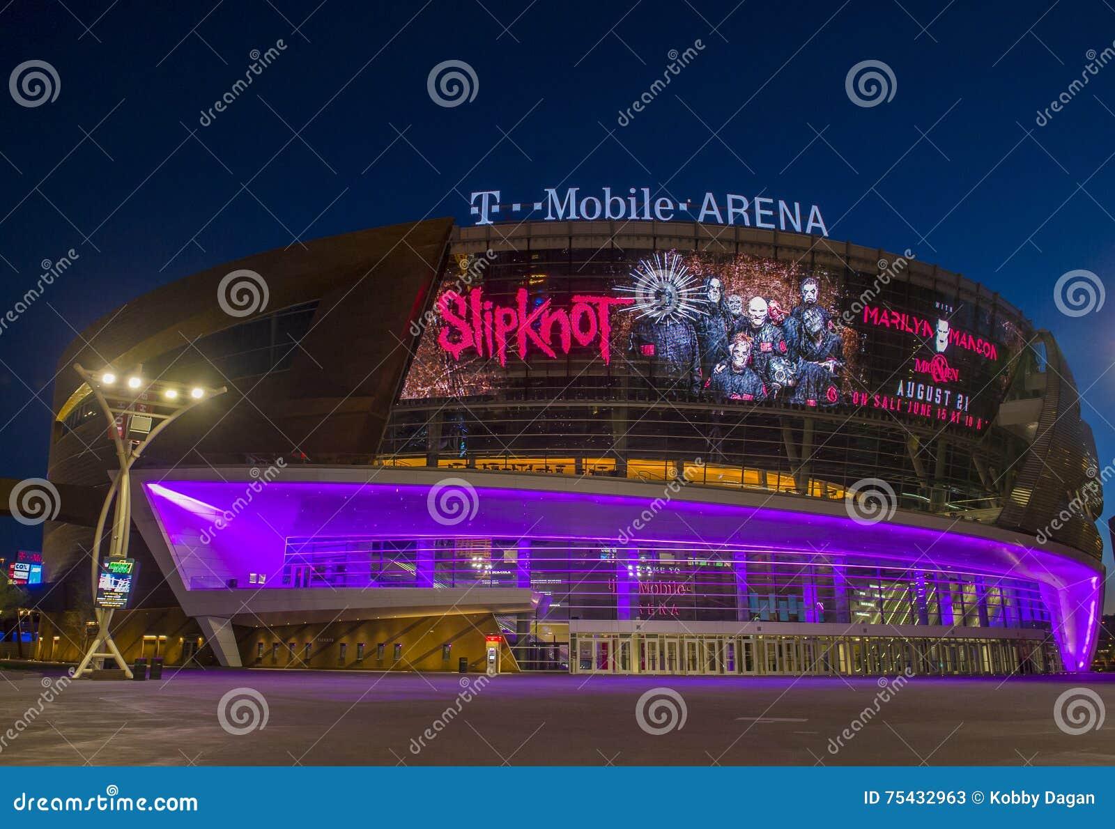 Las Vegas T-Mobile arena editorial stock photo  Image of arena