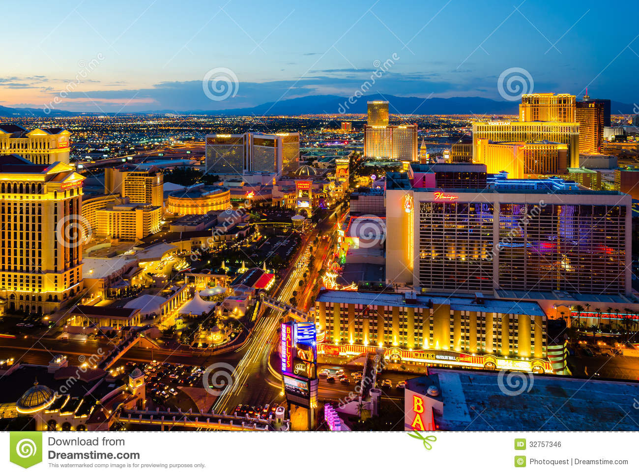 For that Aerial view las vegas strip god knows!