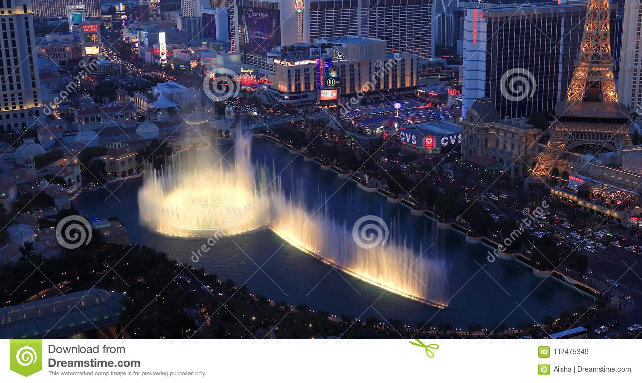 Las Vegas Strip Video From High Rise Balcony Aerial View Of City