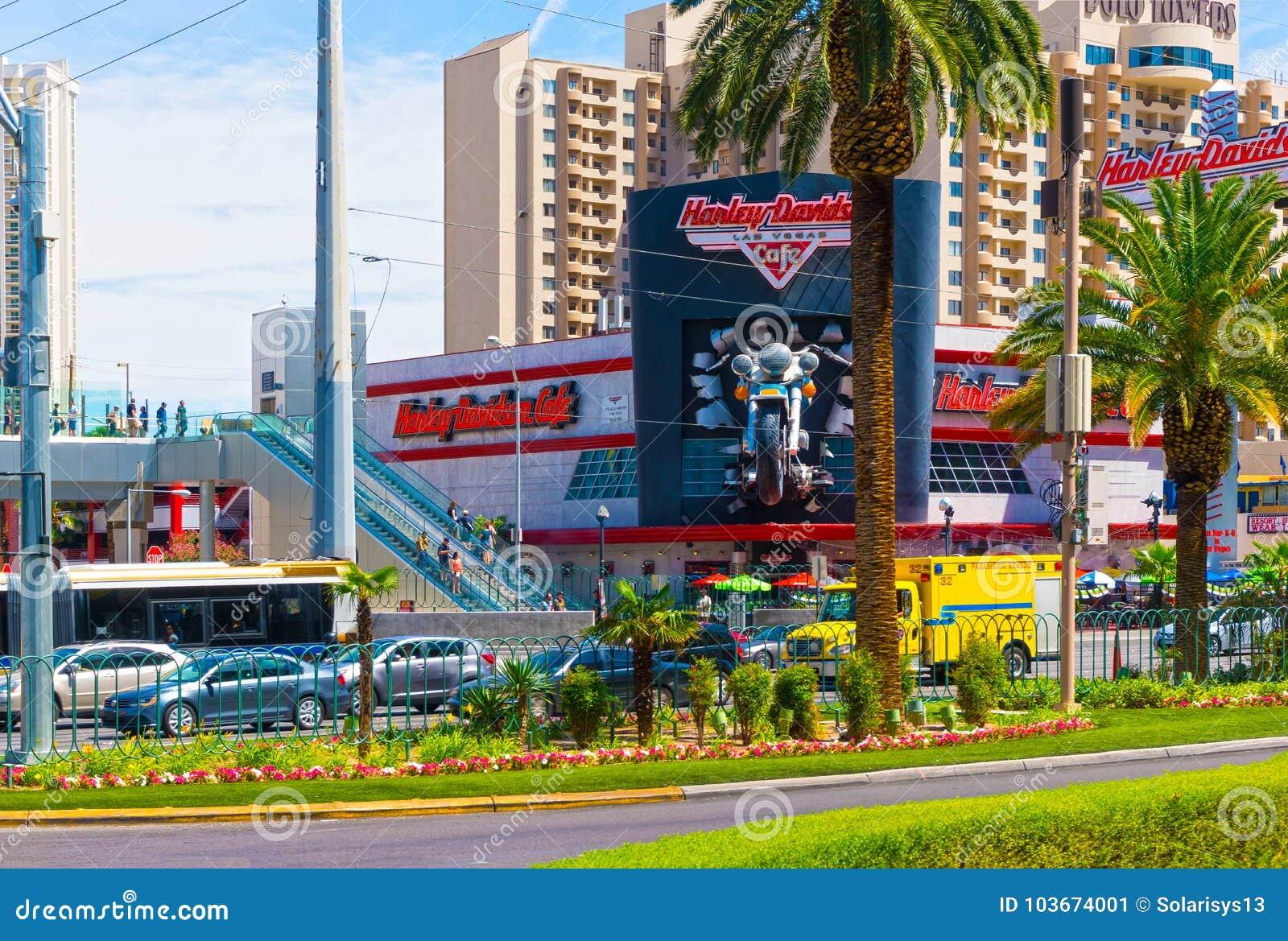 Las Vegas, usa - Maj 05, 2016: Harley Davidson kawiarnia