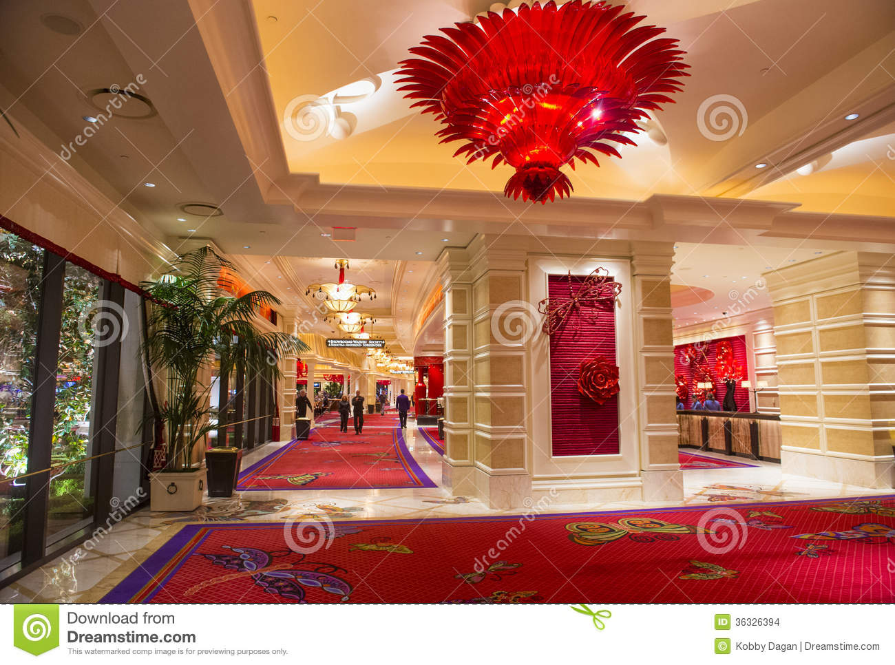 Las Vegas Wynn hotel editorial stock image. Image of gamble - 36326394