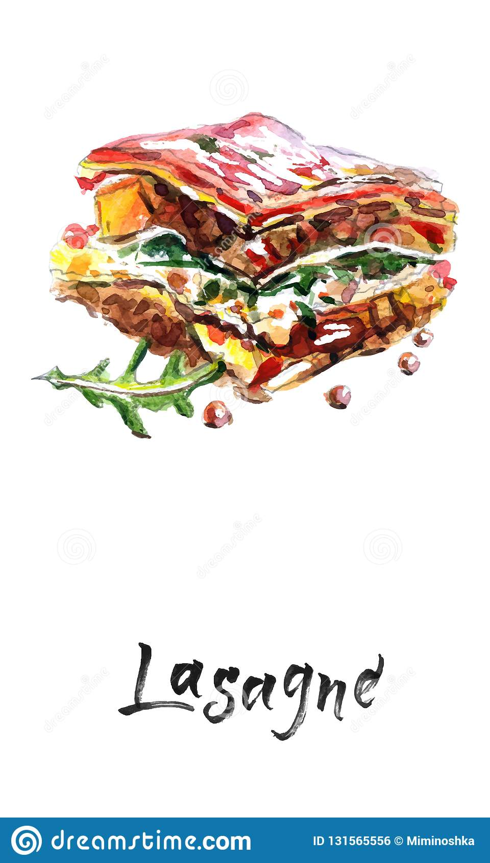 Lasaña del tomate y picada de la carne con el queso acodado entre las hojas de las pastas italianas tradicionales