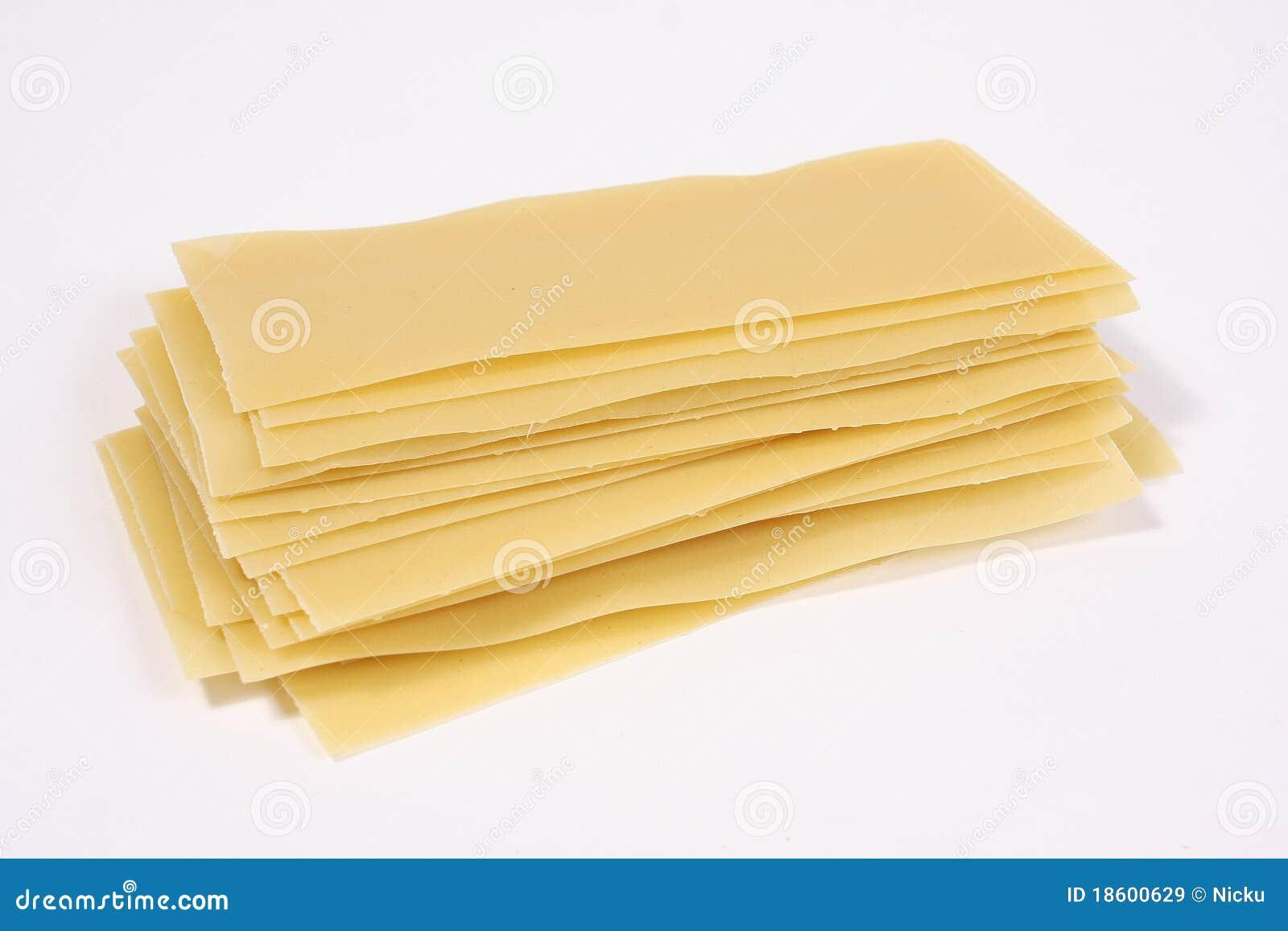 Lasagneteigwarenstapel