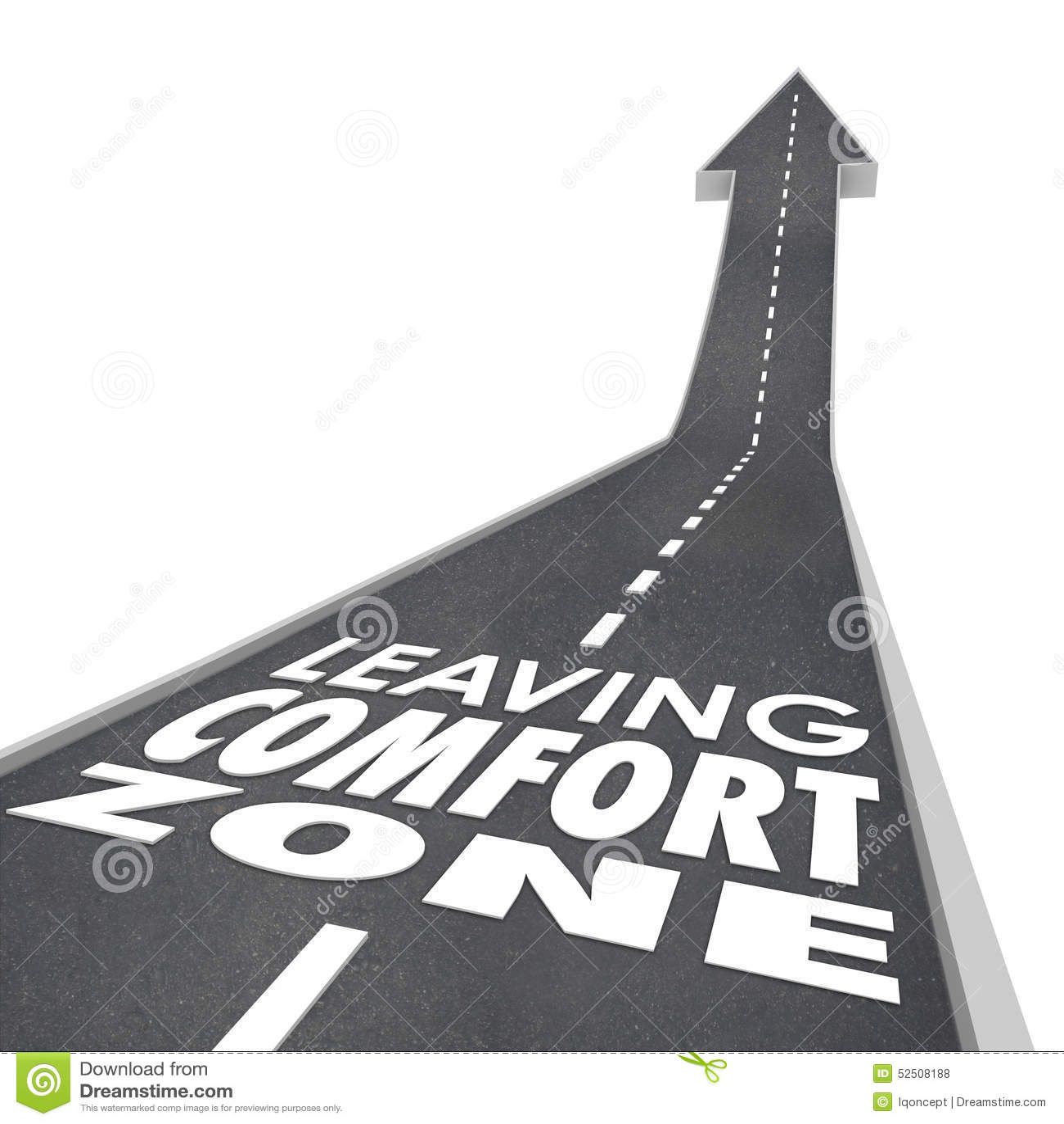 Lasciando la strada di parole di zona di comodità coltivi l aumento nuova esperienza