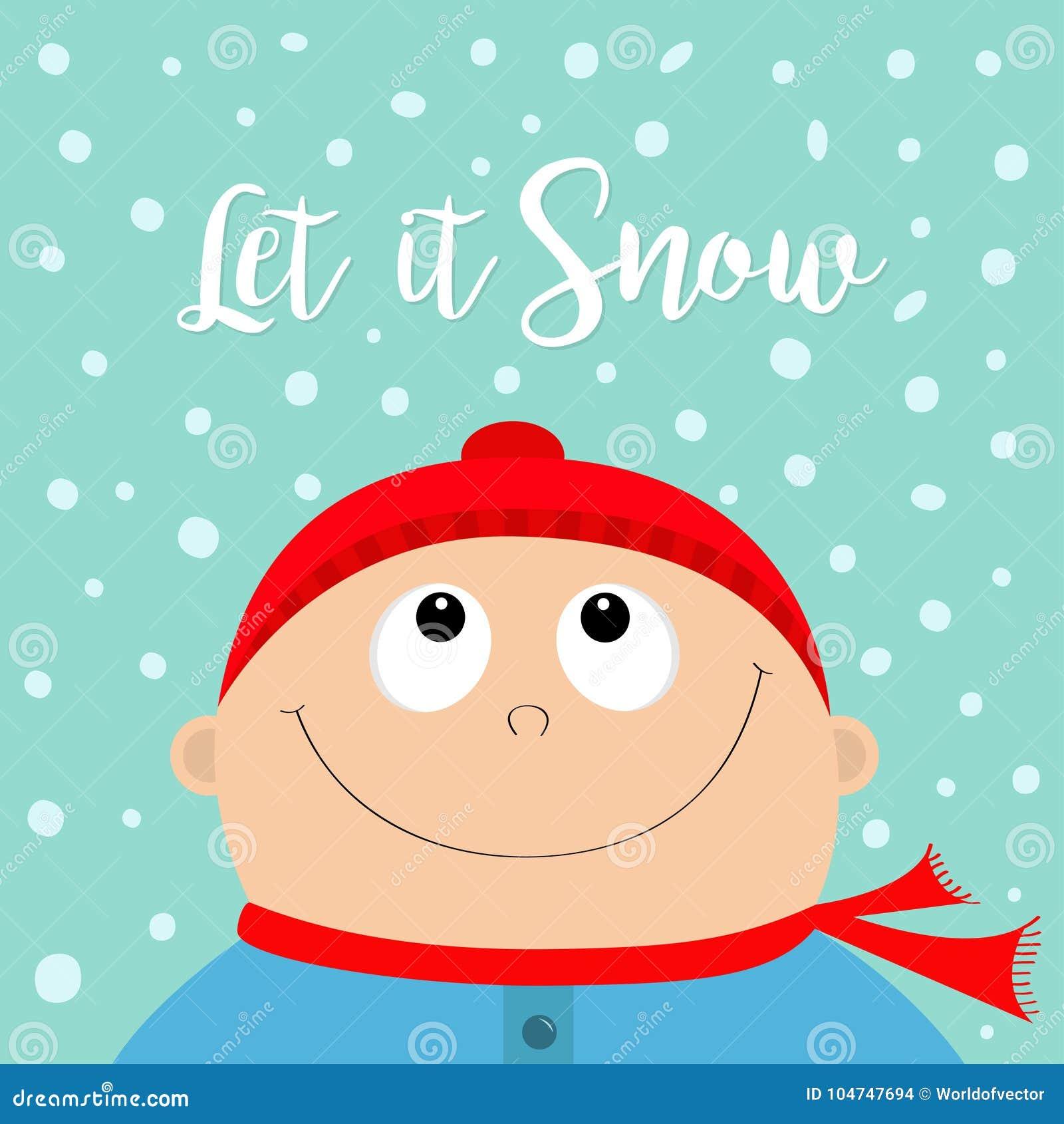 Lasciate Esso Nevicare Fronte Del Bambino Che Rispetta Neve