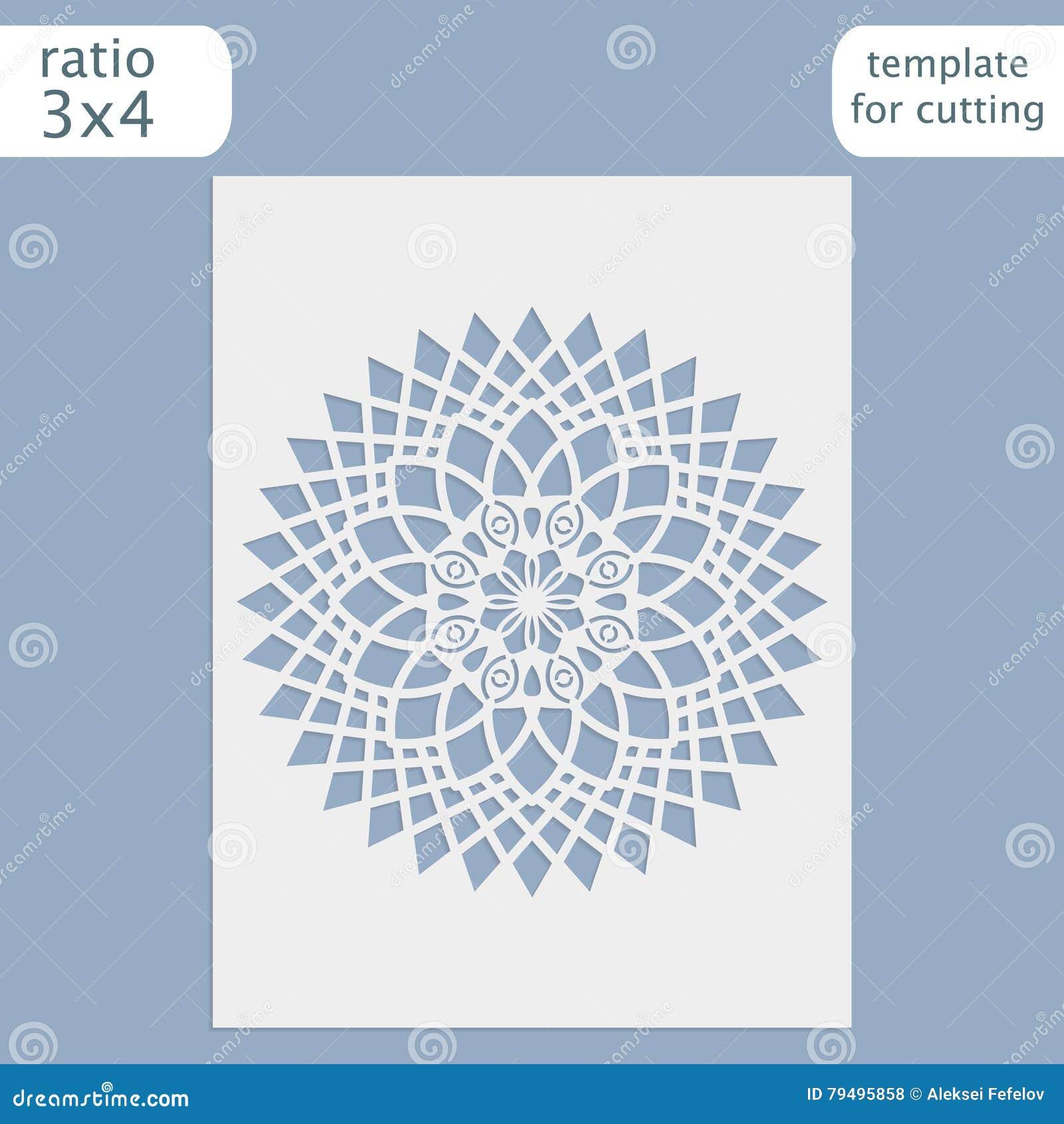 Laser ślubnej karty rżnięty szablon, papierowy openwork kartka z pozdrowieniami, szablon dla ciąć, koronkowy zaproszenie, lasercu