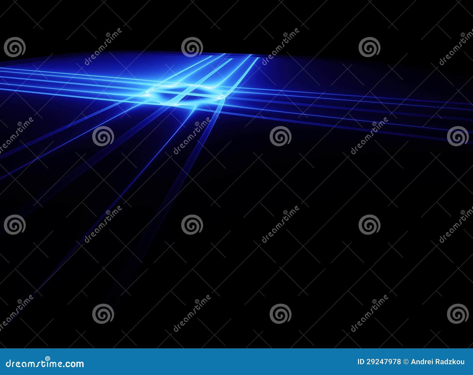 Download Laser azul ilustração stock. Ilustração de moderno, conecte - 29247978