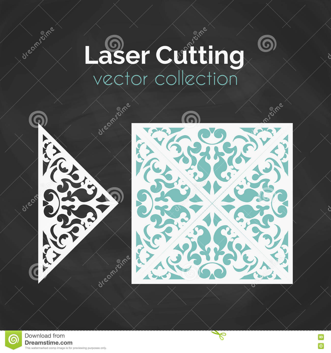 Laser Cut Card. Template For Laser Cutting. Cutout Illustration With ...