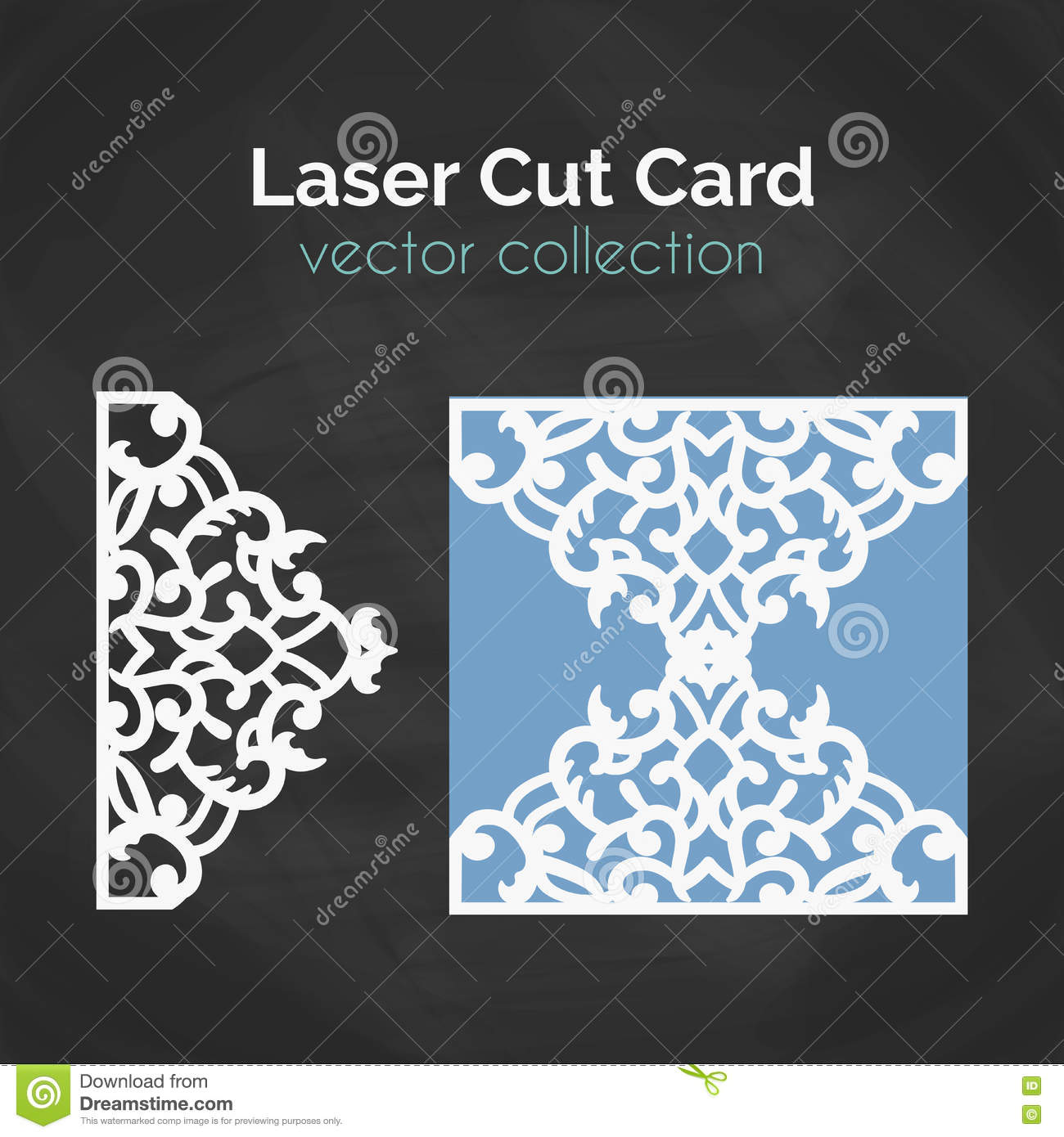 Laser Cut Card Template For Cutting Cutout Illustration With Abstract Decoration Die Wedding Invitation Vector Envelope Design: Cut Out Wedding Invitation Card Templates At Websimilar.org