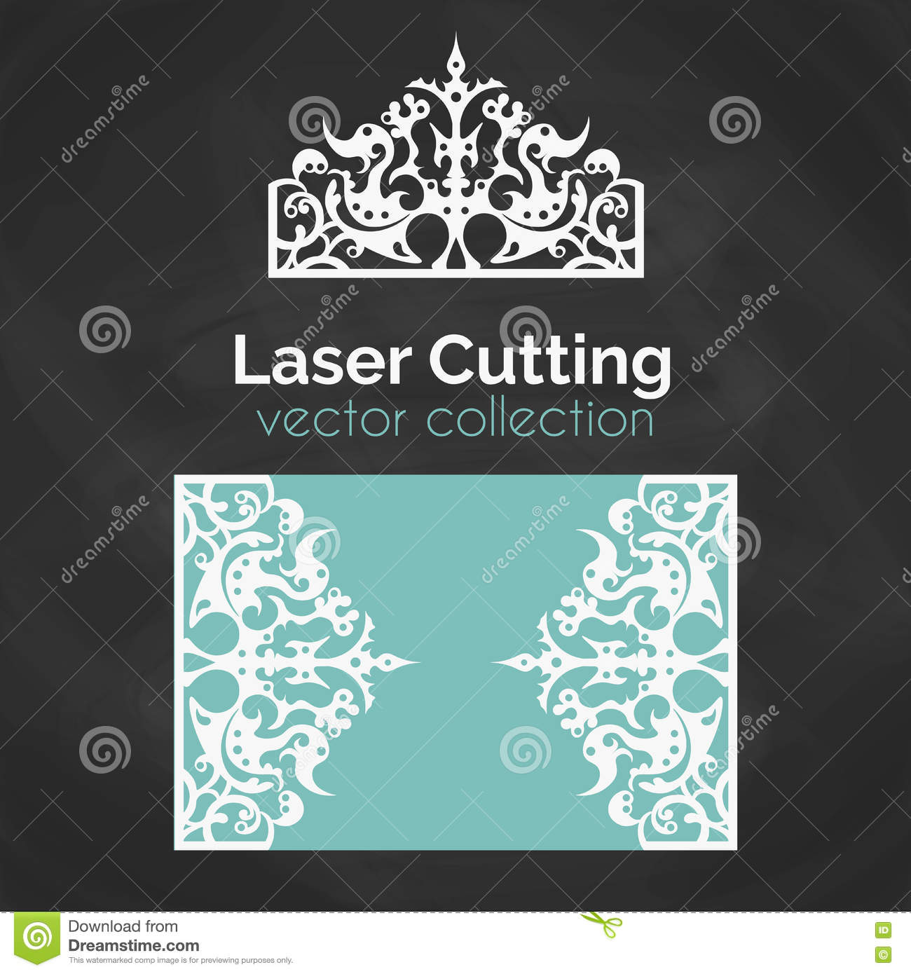 Laser Cut Card Template For Cutting Cutout Illustration With Crown Decoration Die Wedding Invitation: Cut Out Wedding Invitation Card Templates At Websimilar.org