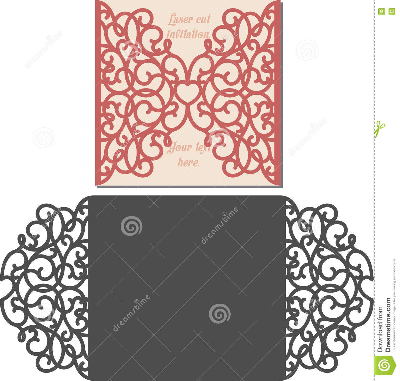 Invitation Card Template Vector Image 42167833 – Template Invitation Card