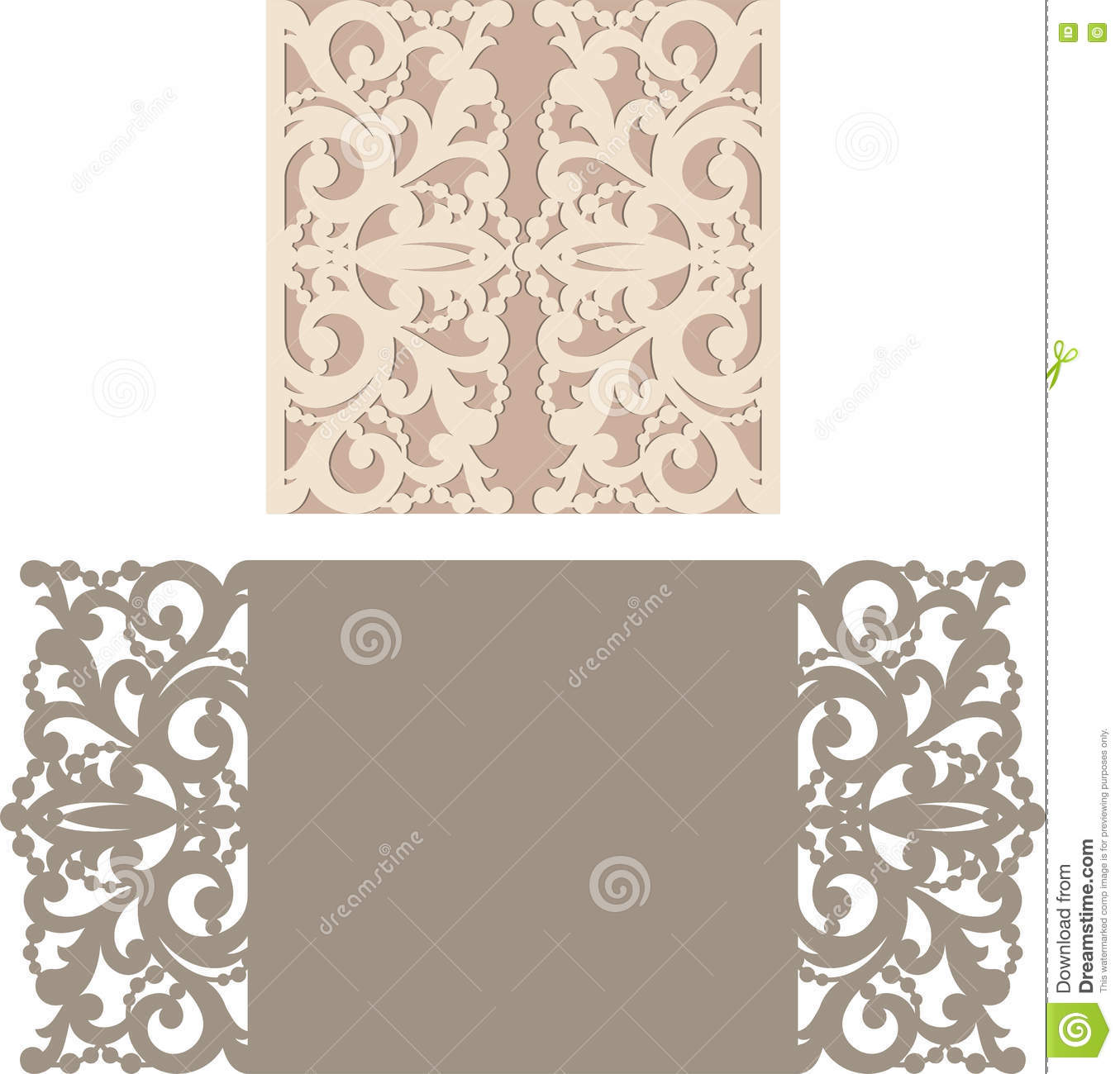 Laser cut envelope template for invitation wedding card stock vector image 73943466 for Free laser cutter templates