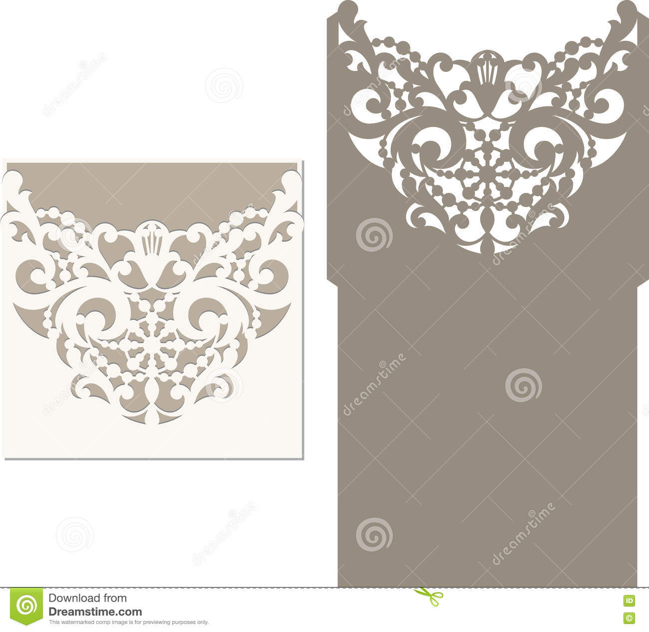 download laser cut envelope template for invitation wedding card stock vector illustration of greeting - Invitation Card Stock