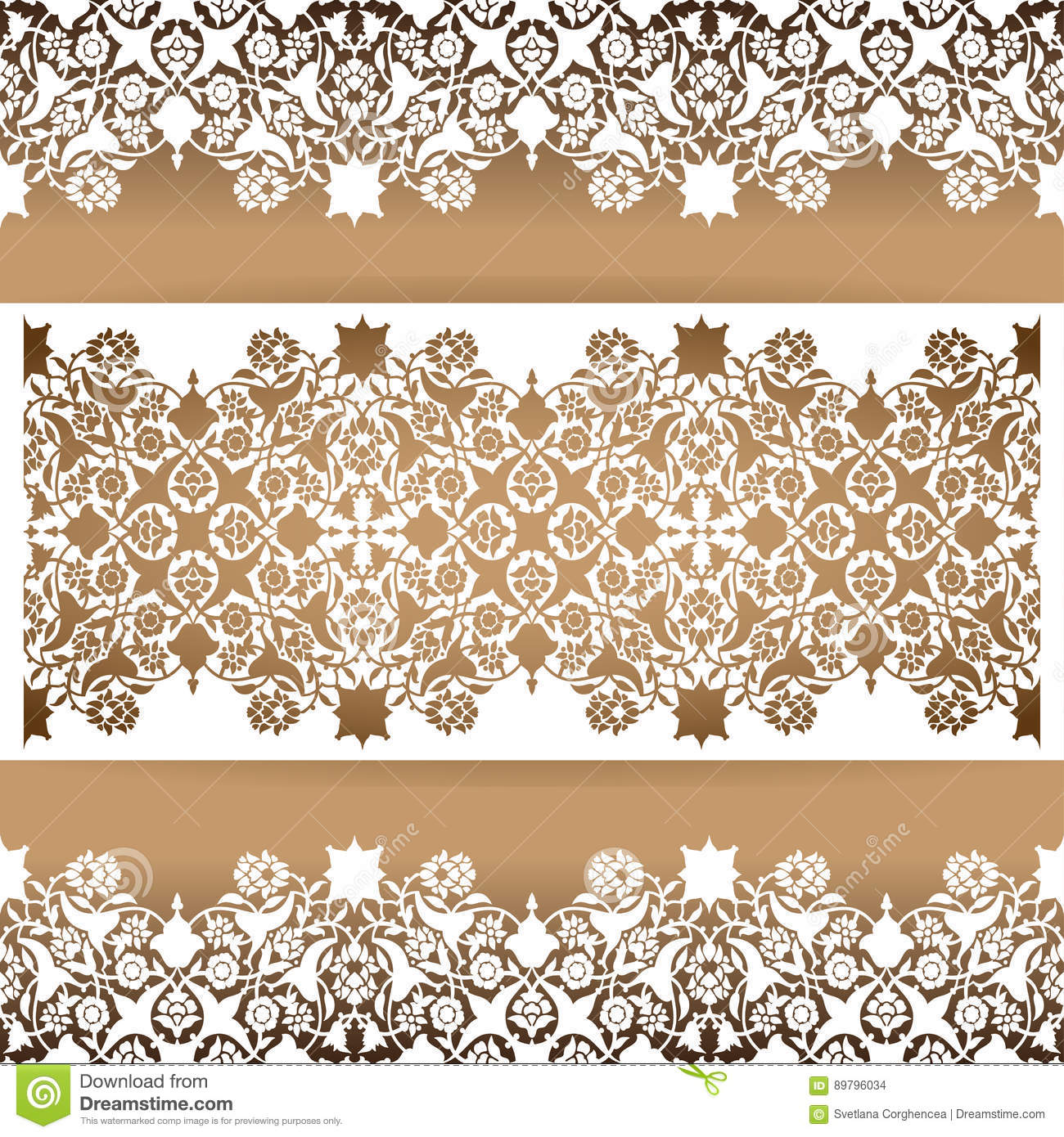 laser cut floral arabesque ornament pattern vector template cut carved decor