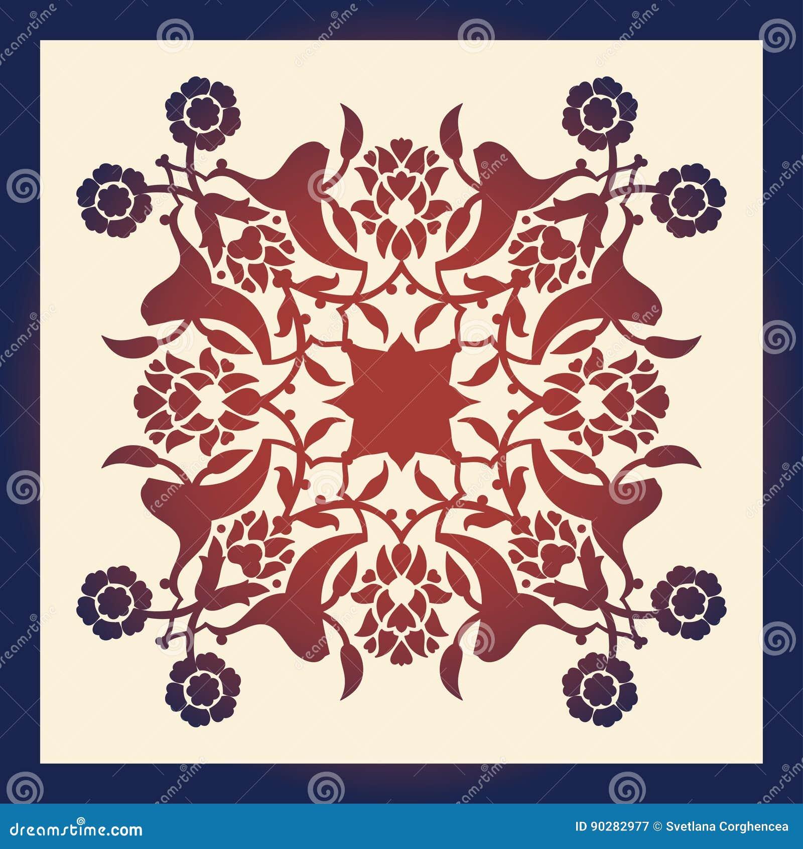 Laser Cut Floral Arabesque Ornament Pattern Vector. Template Cut ...