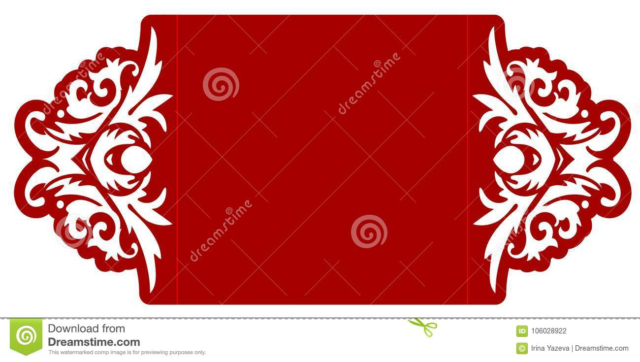 Laser cut vector template stock vector. Illustration of decor ...