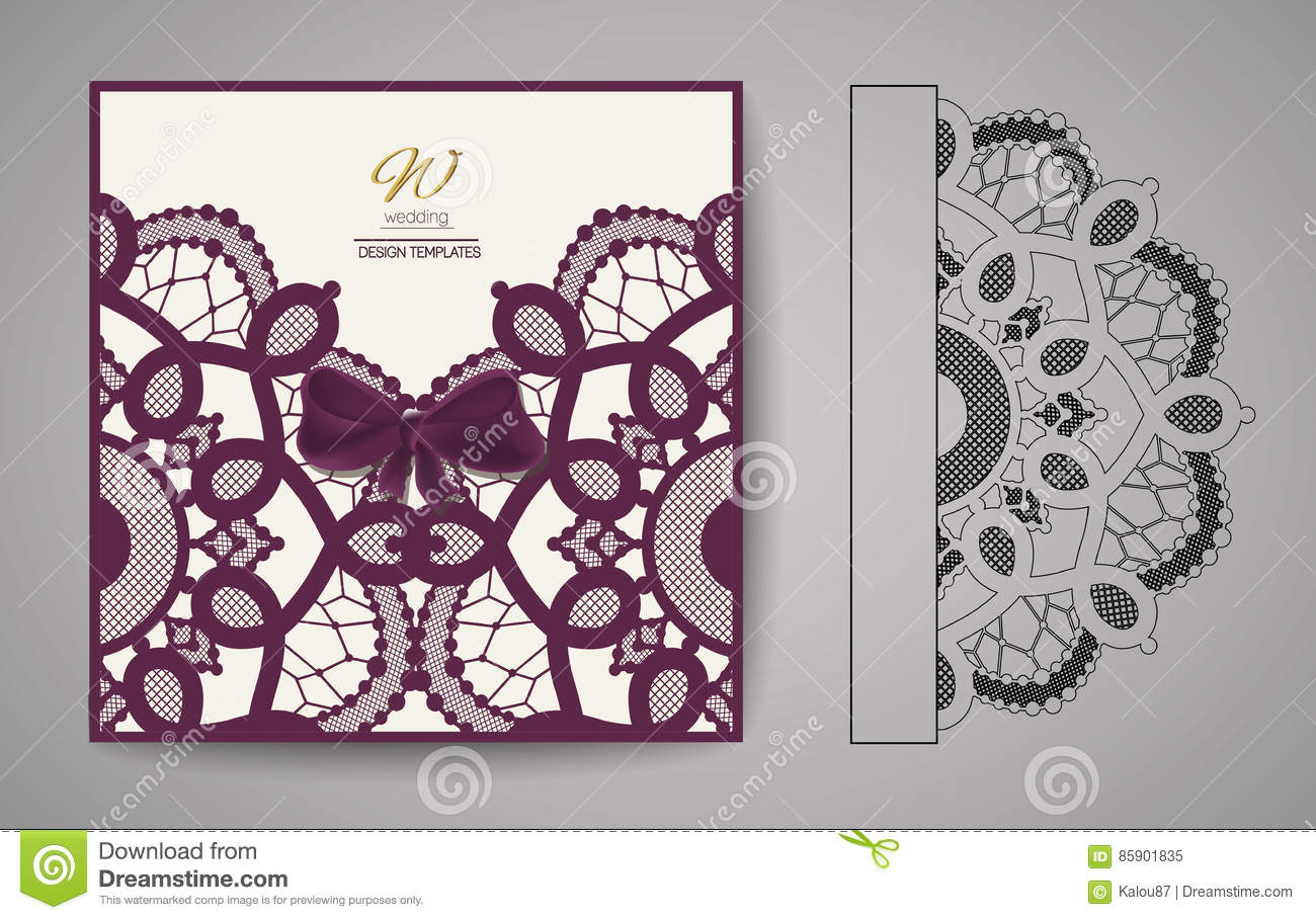 Laser cut invitation card laser cutting pattern for invitation royalty free vector download laser cut invitation card stopboris Choice Image