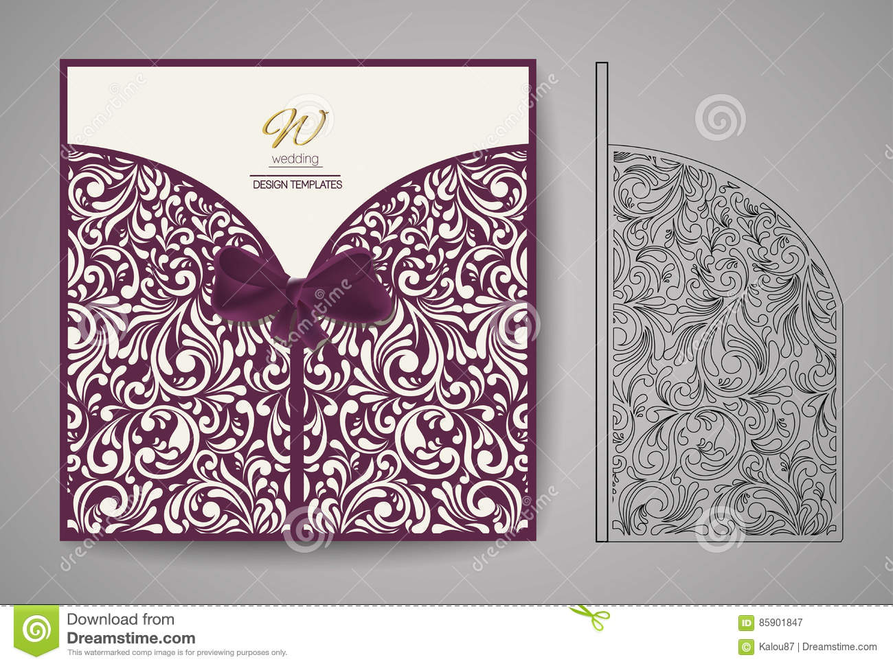 Laser Cut Invitation Card Laser Cutting Pattern For
