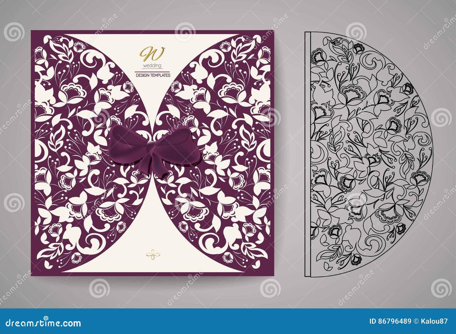 Laser Cut Invitation Card Laser Cutting Pattern For Invitation