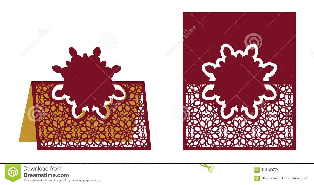 laser cut ornamental vector template freestanding table number