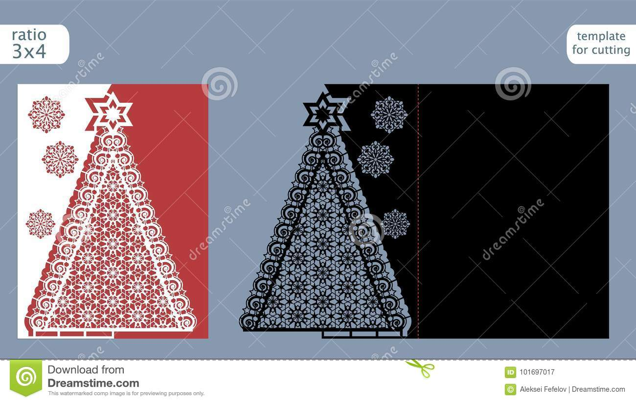 Christmas Cutout Patterns.Laser Cut Out Christmas Card Template Die Cut Paper Card