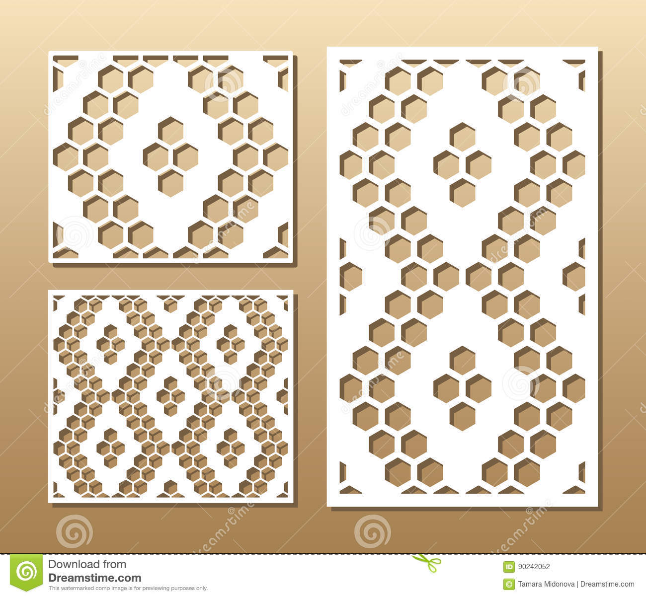 Laser cut panel stock vector  Illustration of background