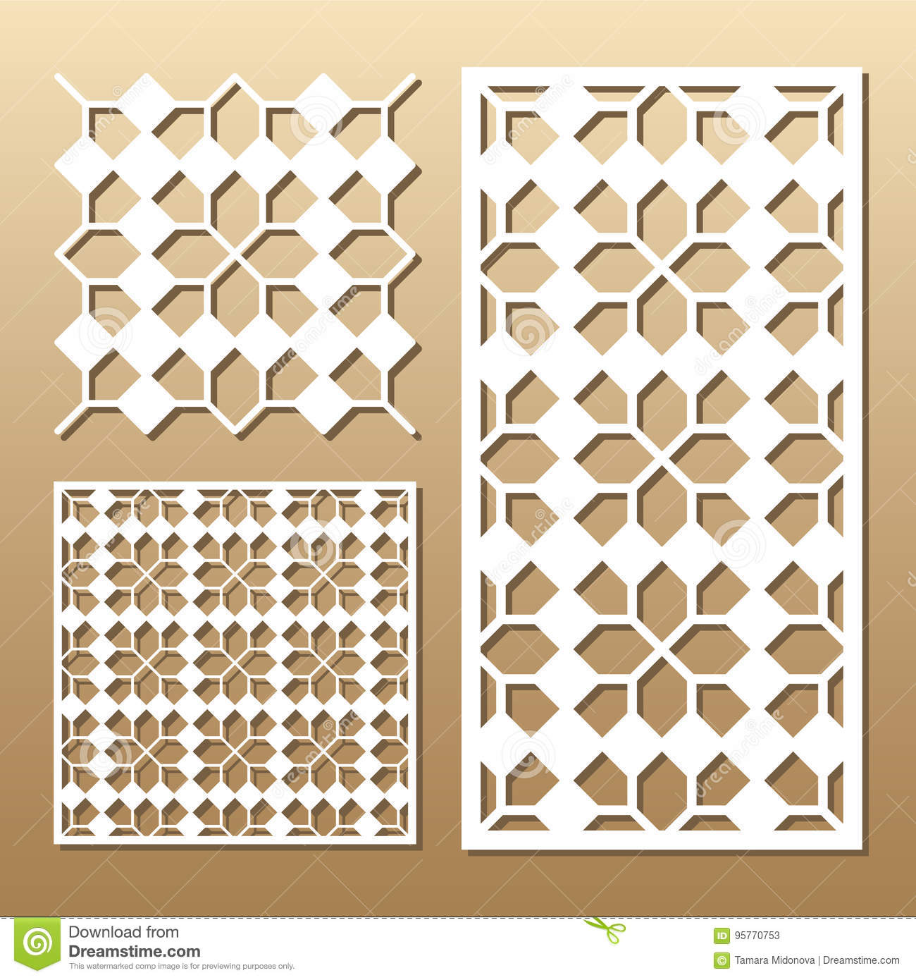 Laser cut panel stock vector  Illustration of marriage - 95770753