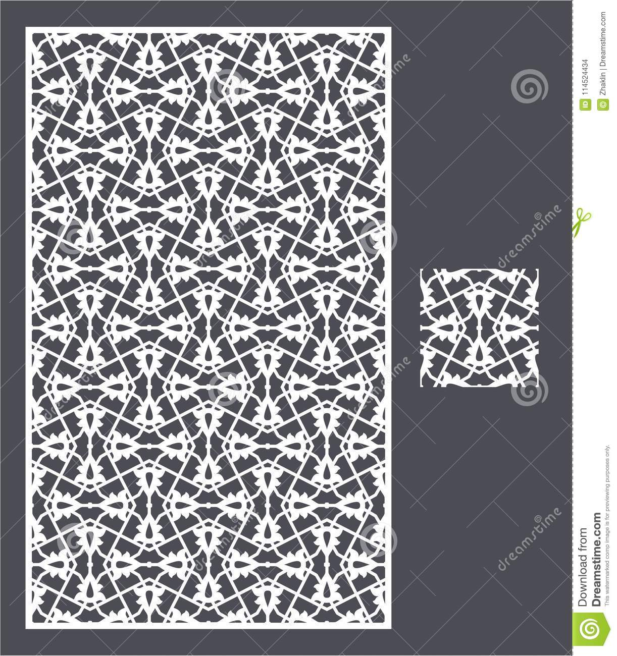 Laser Cut Panel And The Seamless Pattern For Decorative Panel Stock ...