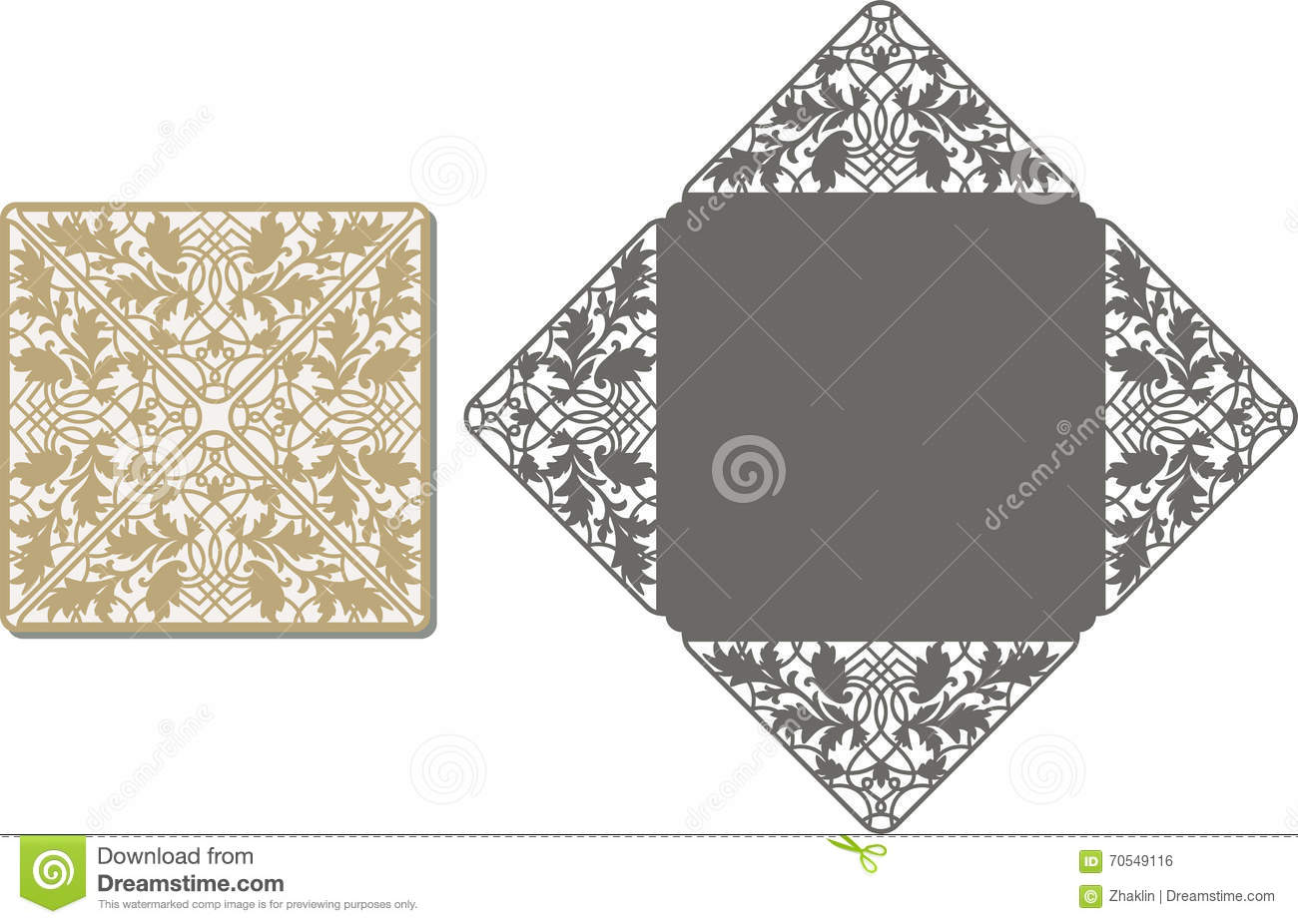 Laser Cut Pattern For Invitation Card For Wedding Stock ...