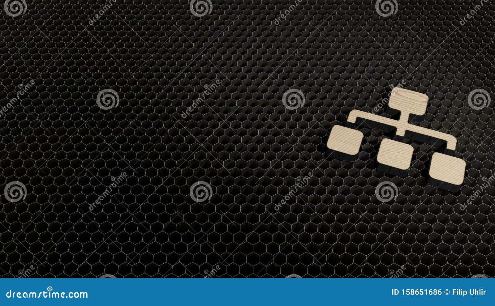 laser cut plywood symbol of sitemap