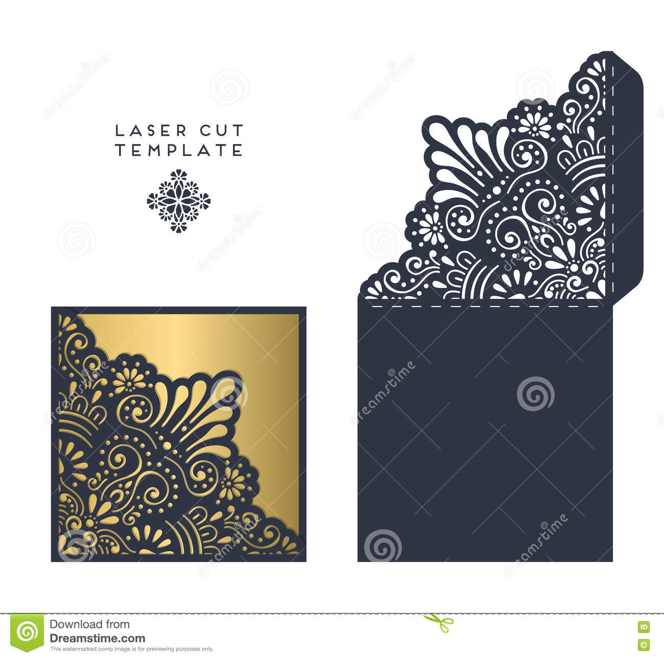Laser Cut Template Stock Vector - Image: 76874258