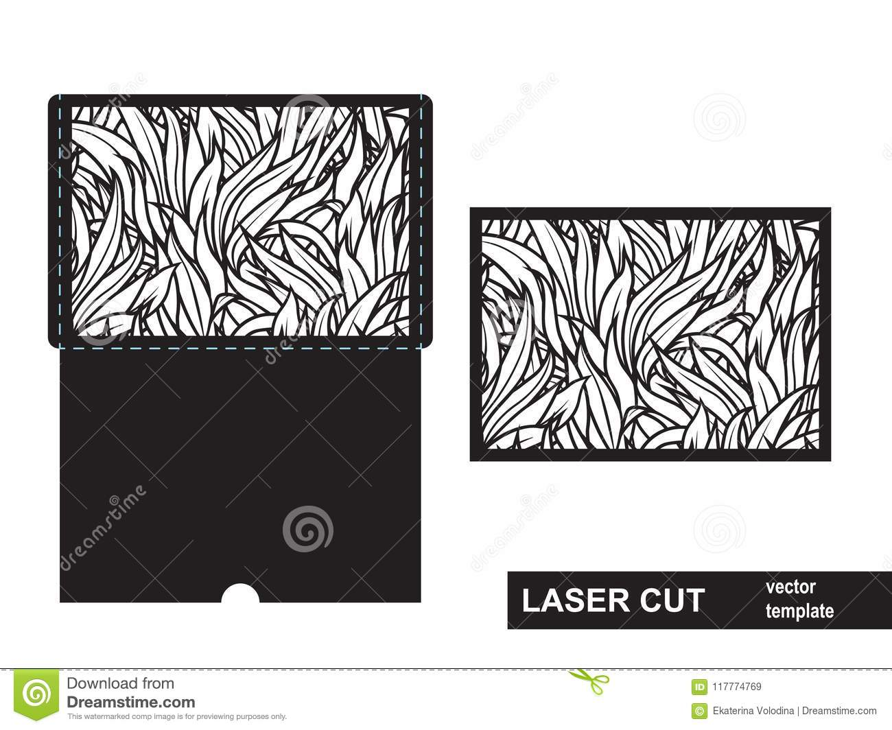 Laser Cut Template From Grass Stock Vector - Illustration of laser ...