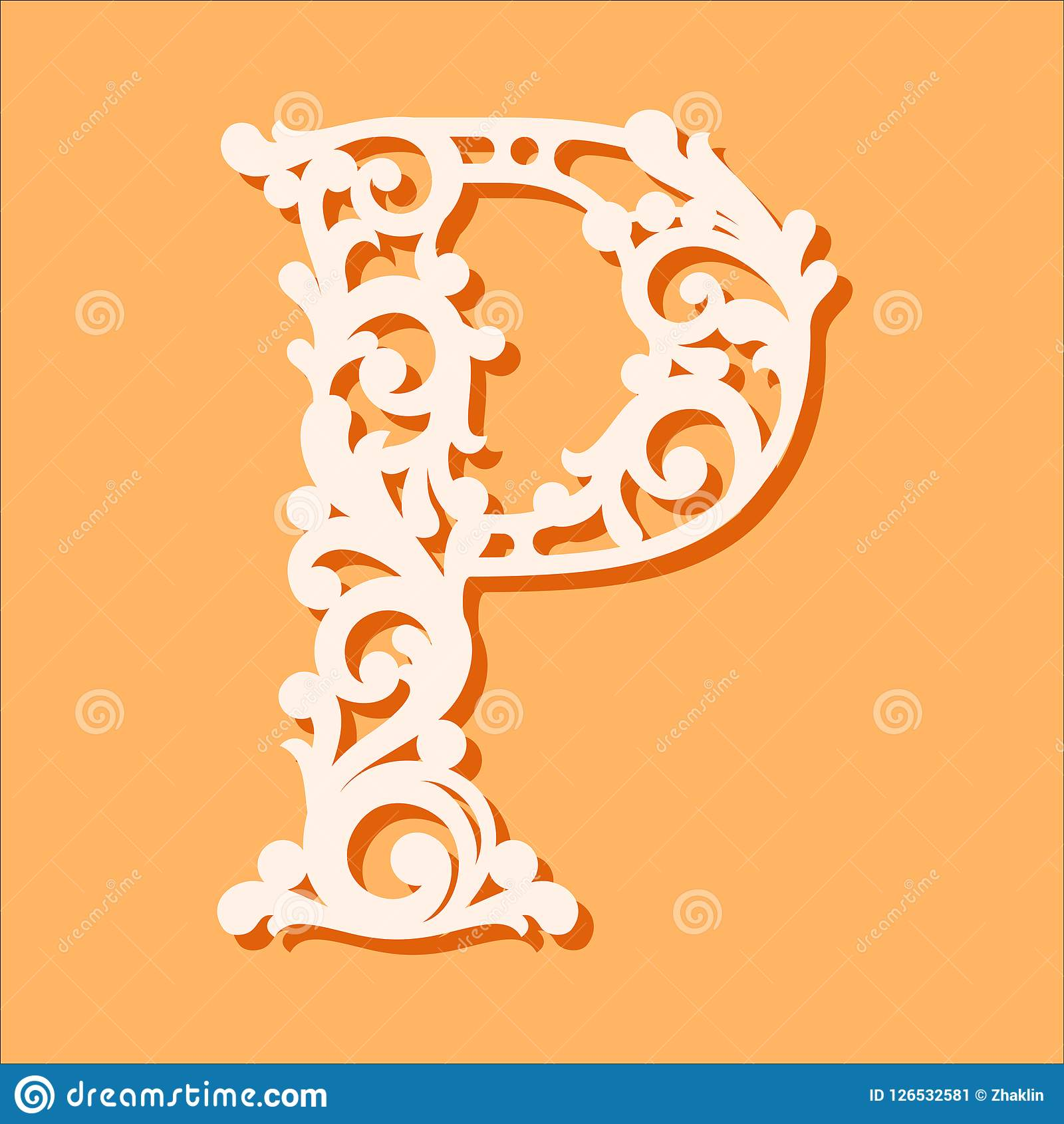 graphic about Printable Cutout Letters named Laser Reduce Template. First Monogram Letters. Extravagant Floral