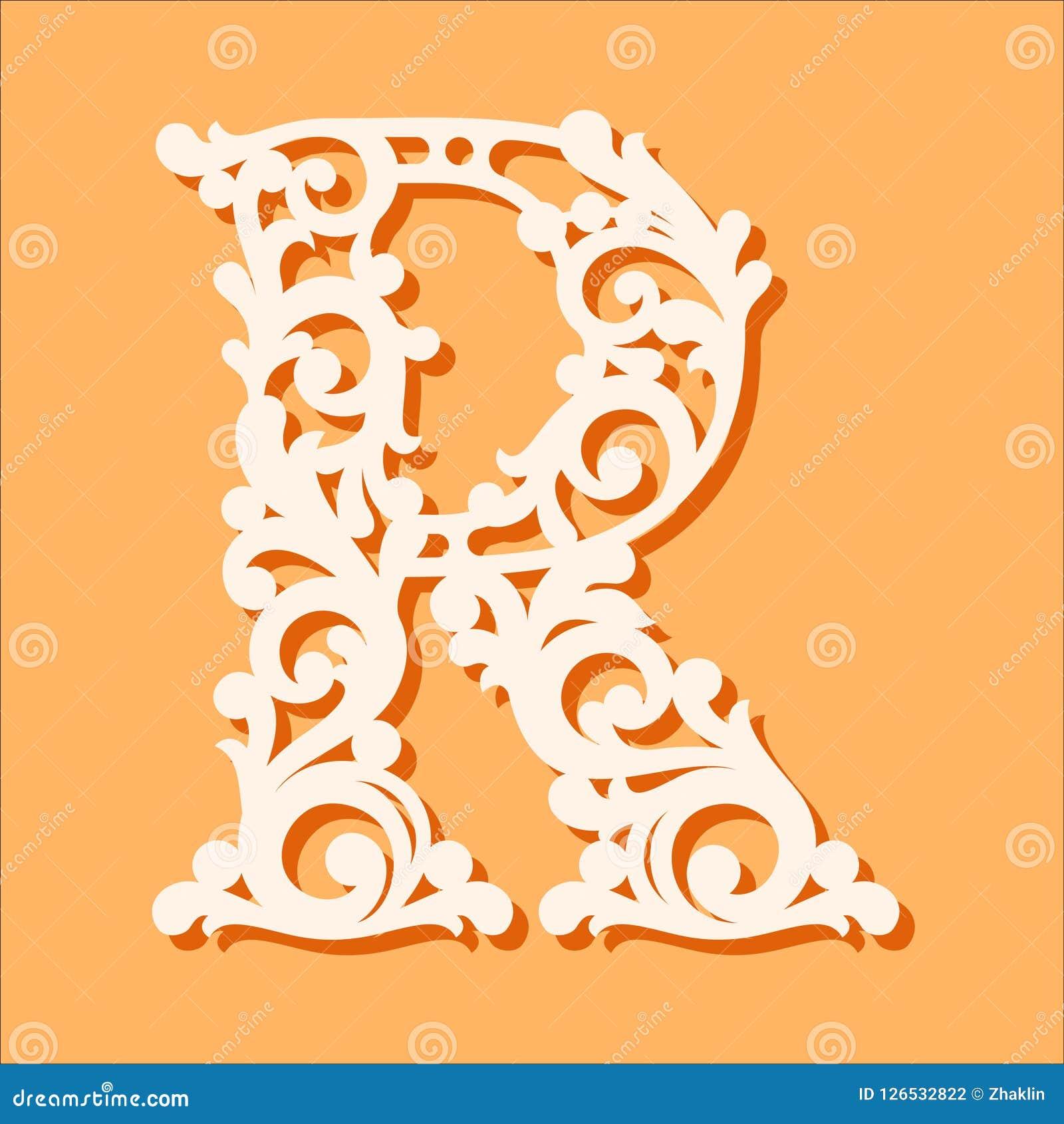 Laser cut template initial monogram letters fancy floral alphabet download laser cut template initial monogram letters fancy floral alphabet letter stock vector maxwellsz
