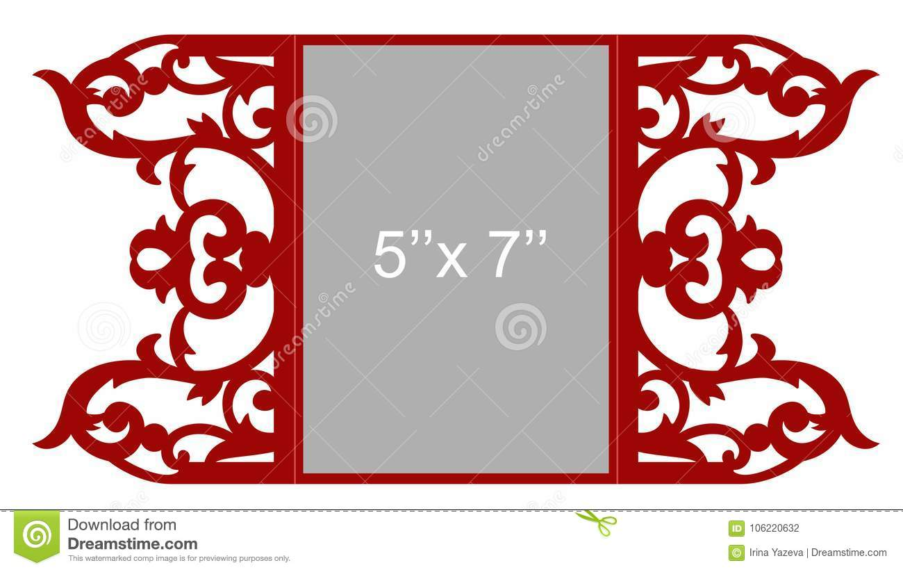 Laser cut template stock illustration. Illustration of out - 106220632