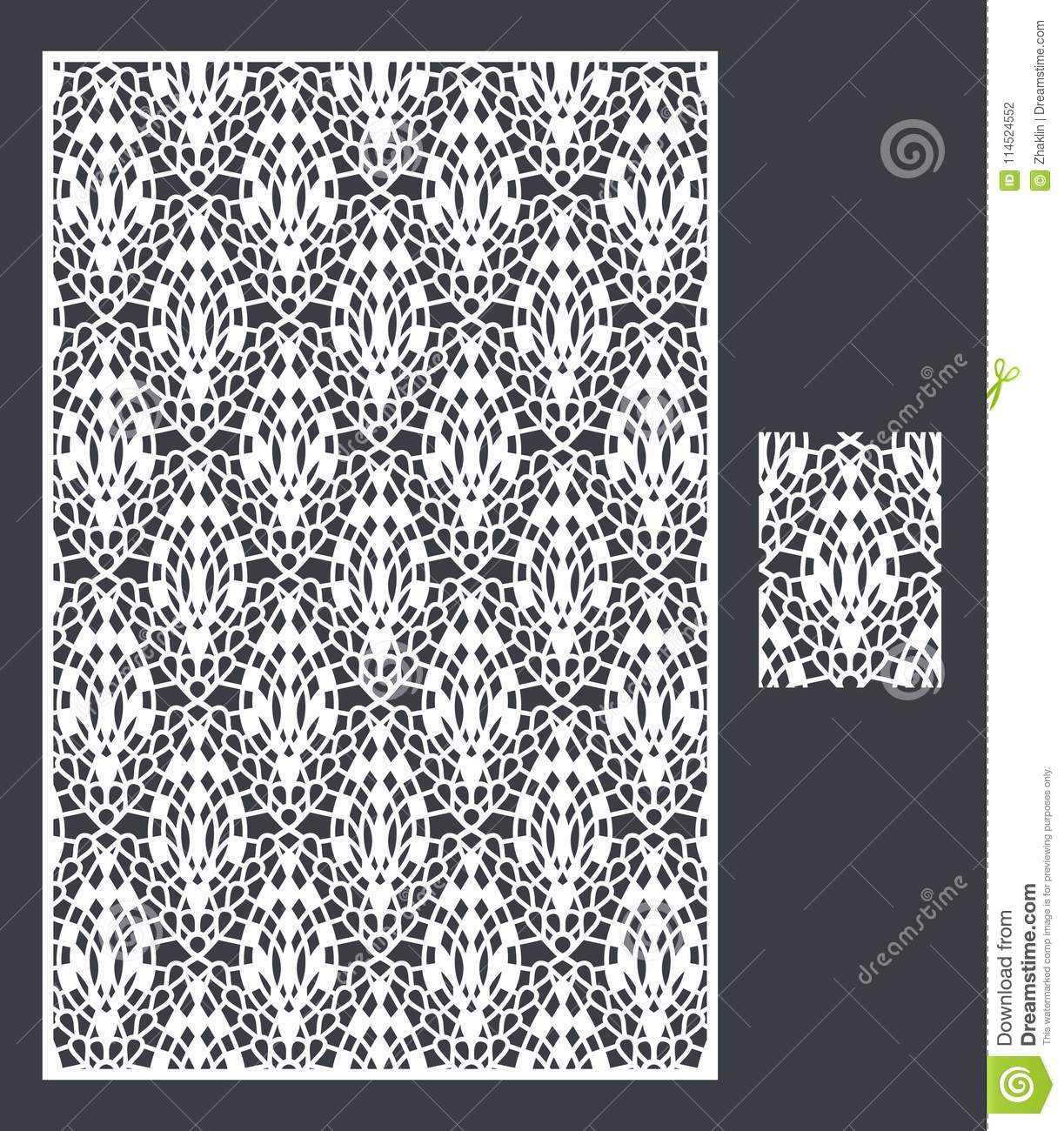 Laser Cut Vector Panel And The Seamless Pattern For Decorative Panel ...