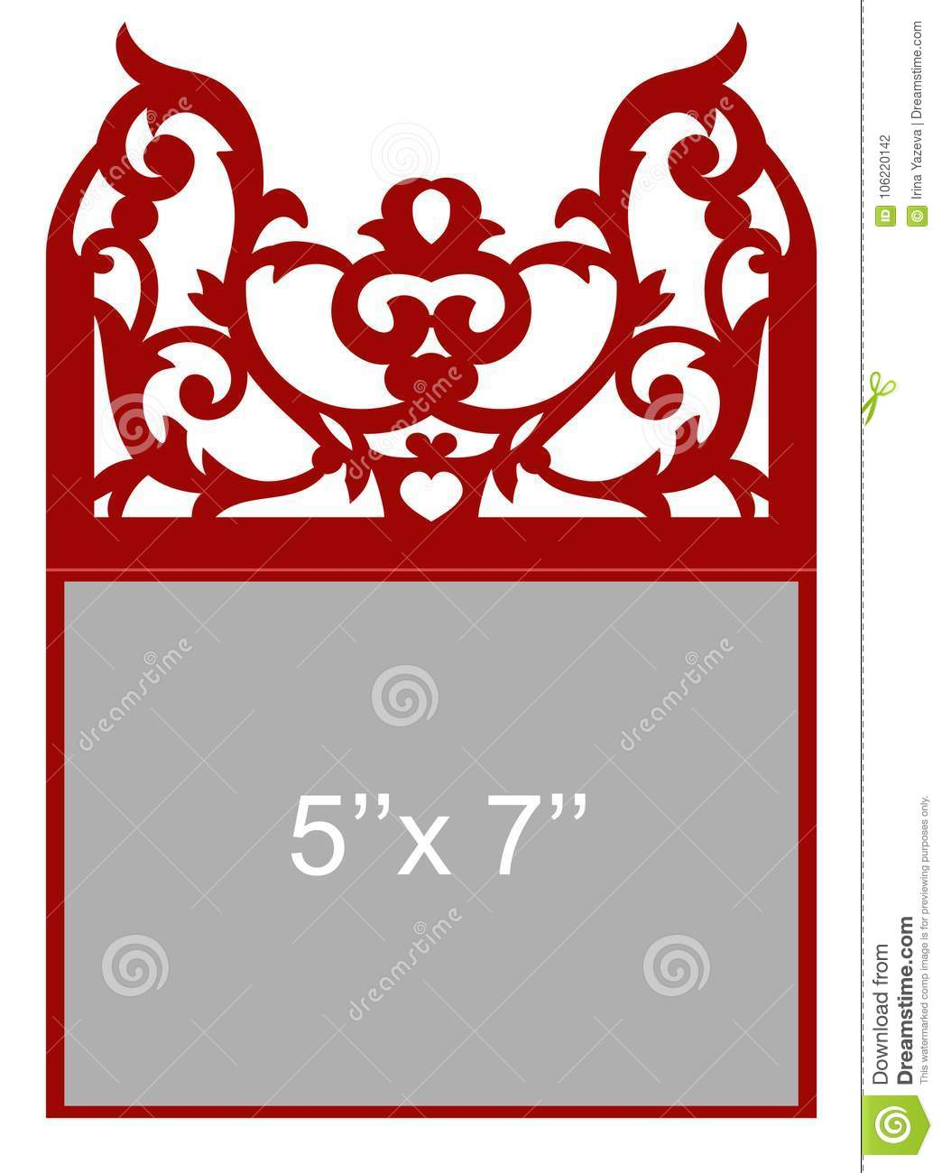 Laser cut vector template stock vector. Illustration of decorative ...