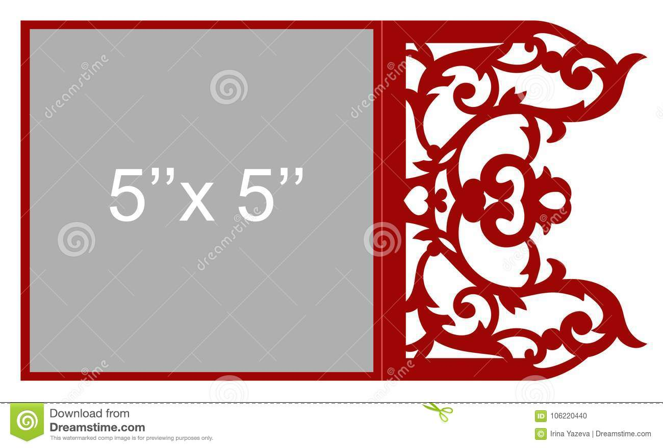 Laser cut vector template stock vector. Illustration of background ...