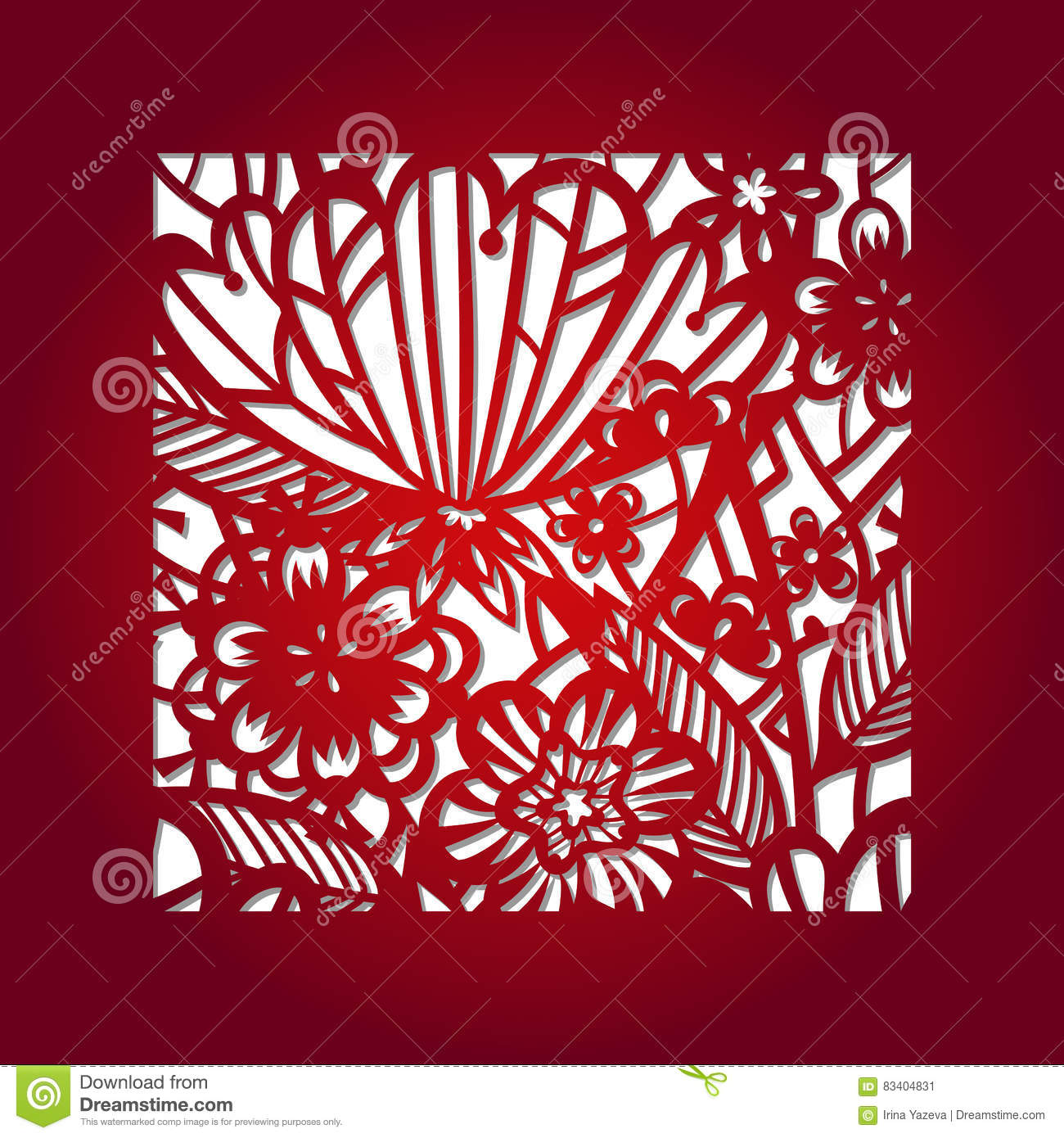 Laser cut vector template stock vector. Illustration of ...