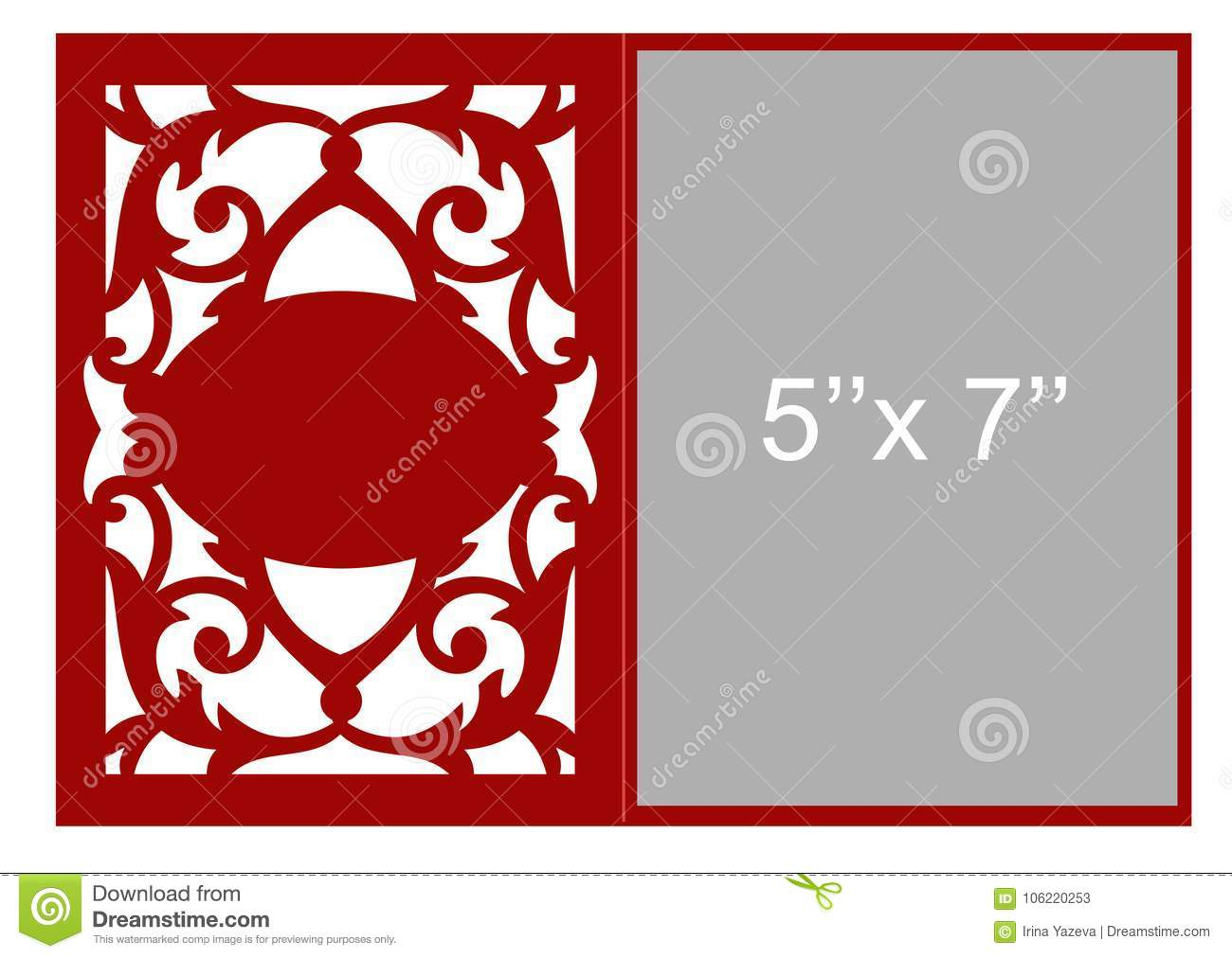 Laser cut vector template stock vector. Illustration of carving ...
