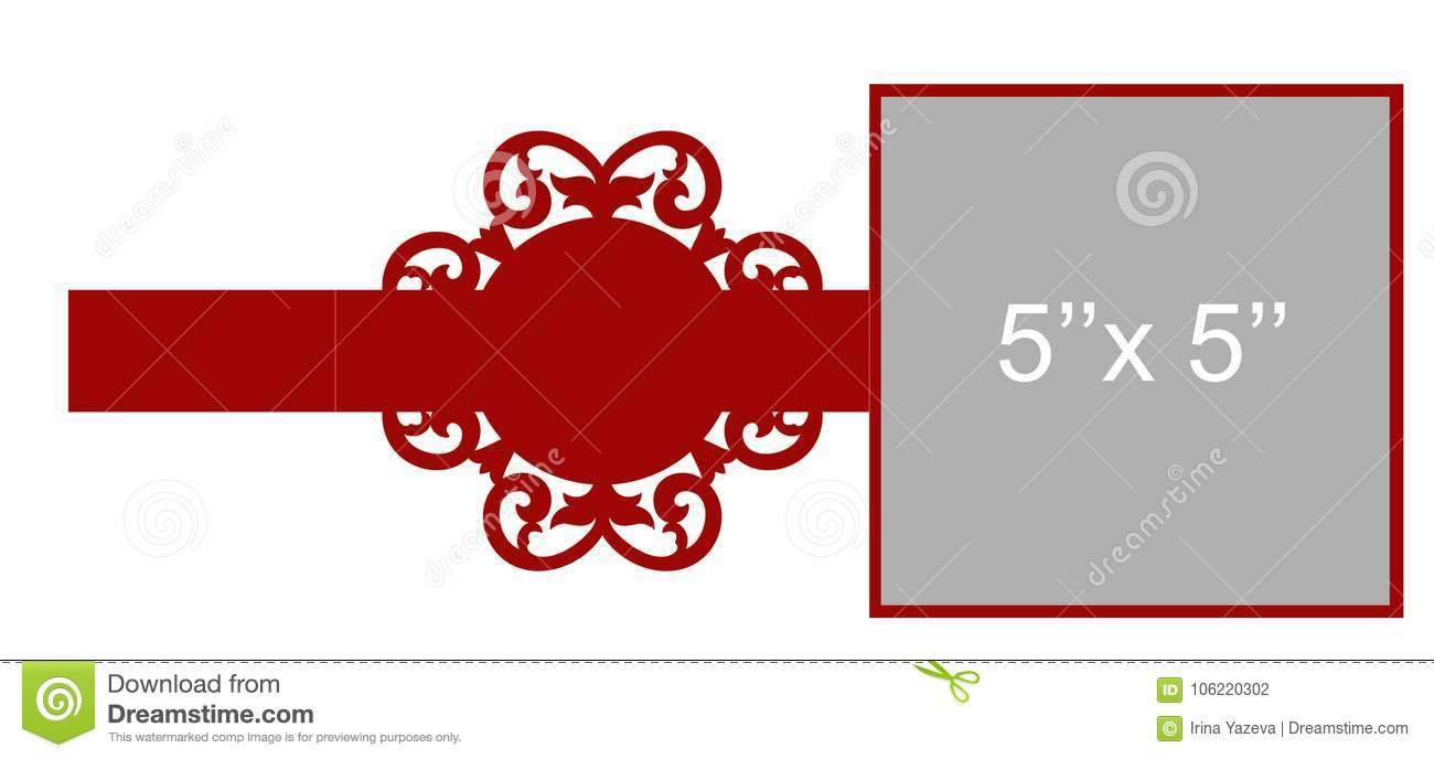 Laser cut vector template stock vector. Illustration of engagement ...