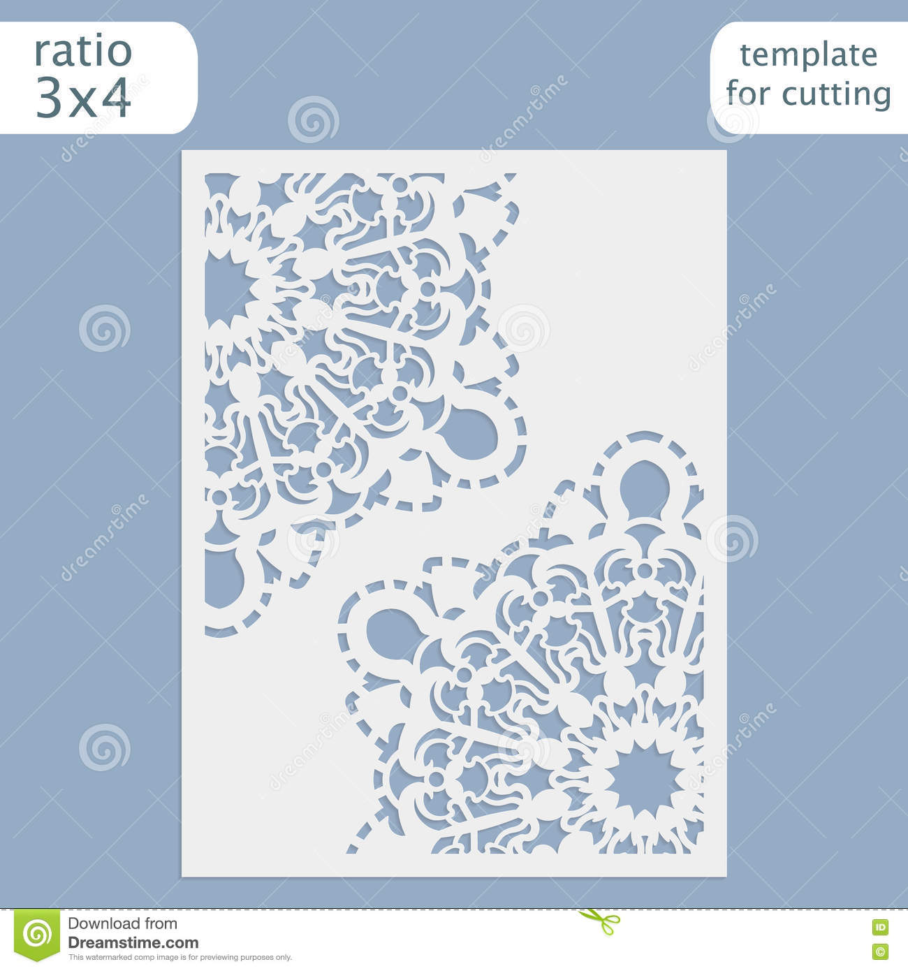 Laser cut wedding invitation card template vector cut out the paper laser cut wedding invitation card template vector cut out the paper card with lace pattern greeting card template for cutting location ornament stopboris Choice Image