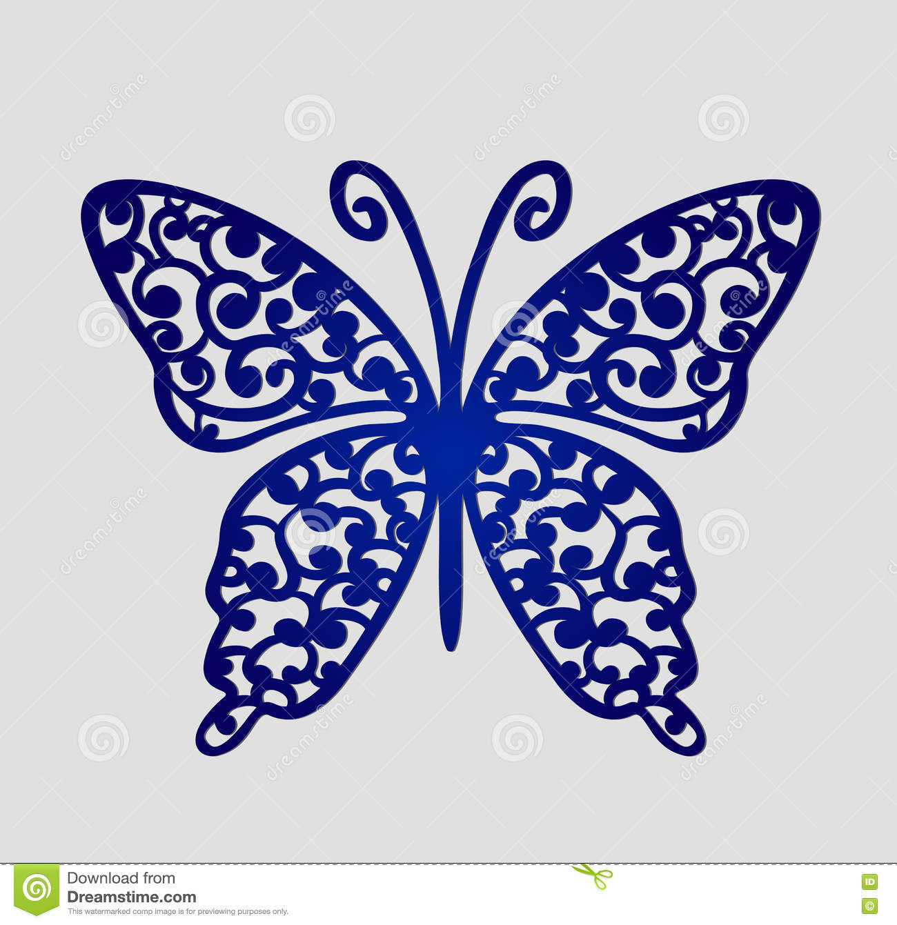 Laser Cut Wedding Place Cards, Vector Cutout Butterfly. Stock Vector ...