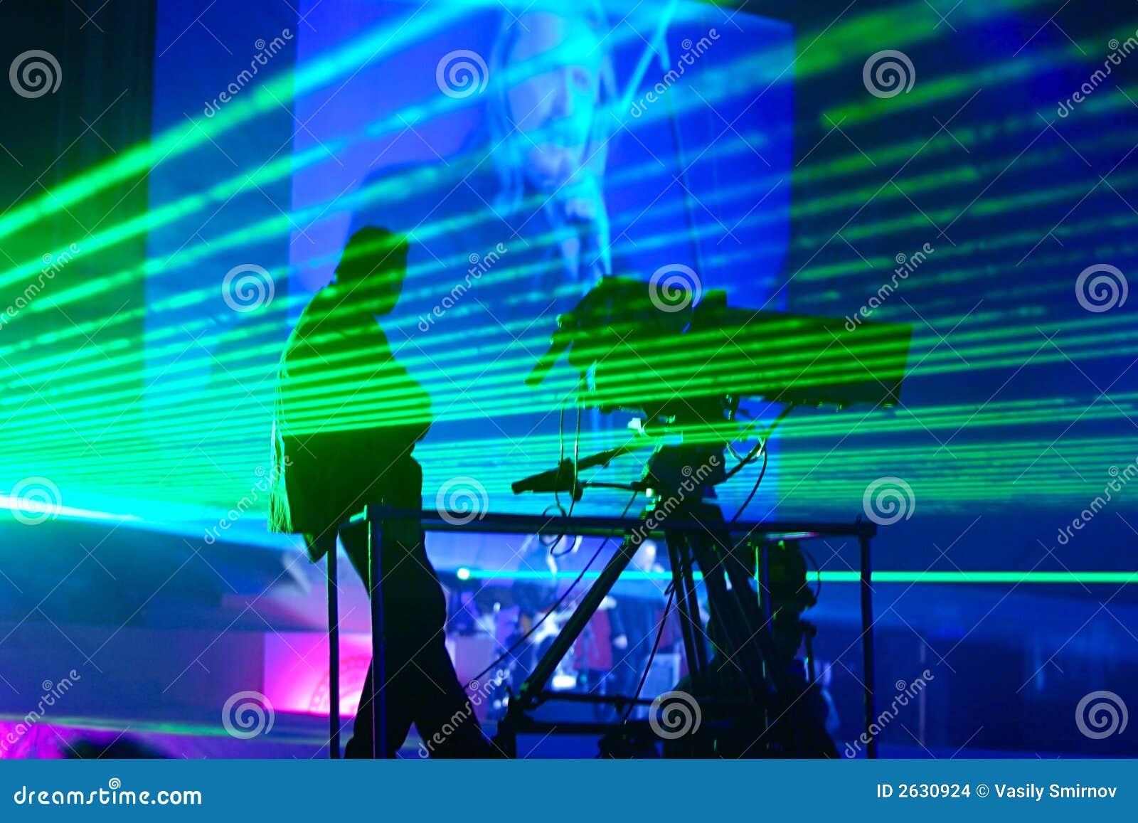 Laser-Erscheinen