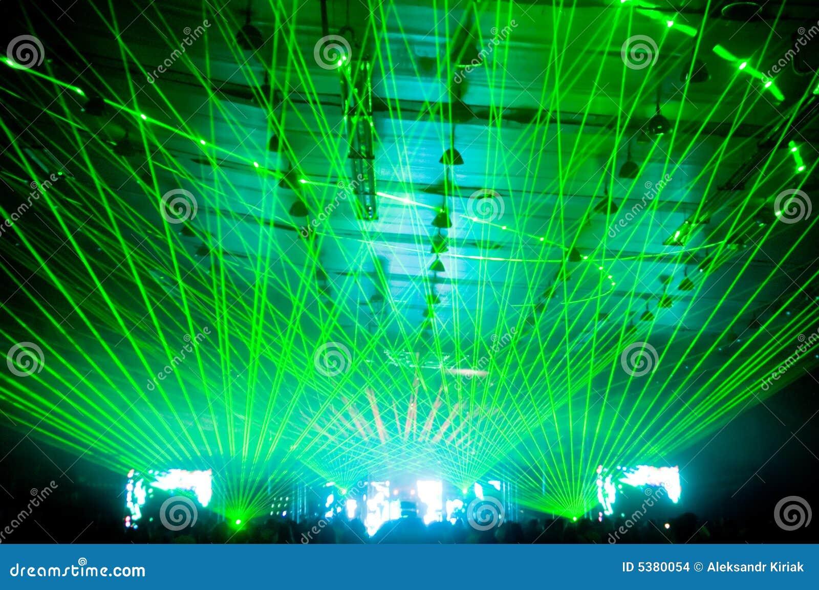 Laser-Erscheinen am Konzert