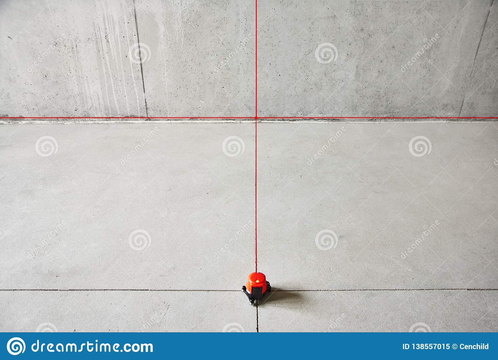 Laser Level Check Floor And Walls Picture Stock Image Image Of